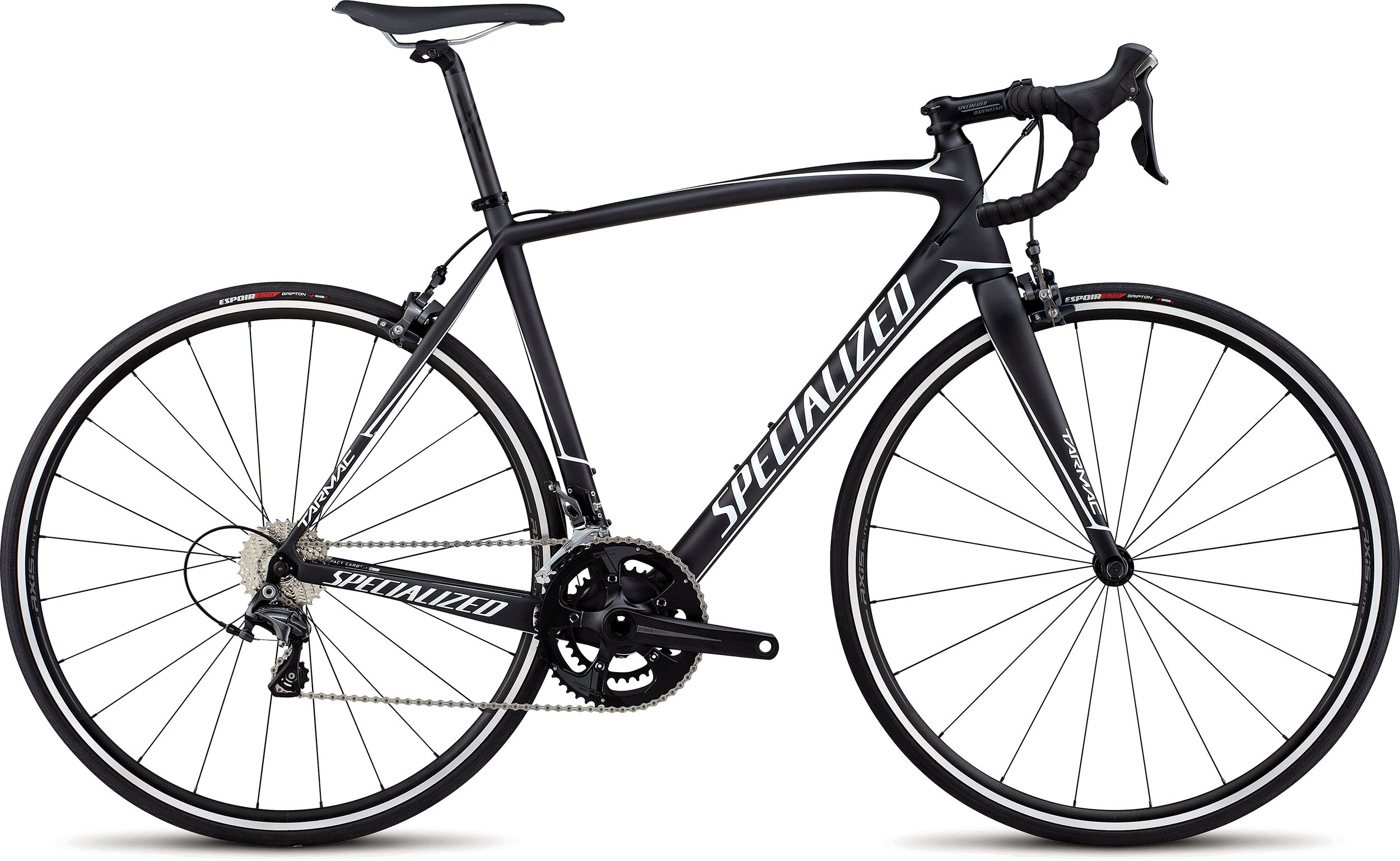 SPECIALIZED TARMAC SL4 ELITE CARB/WHT 56 - Alpha Bikes