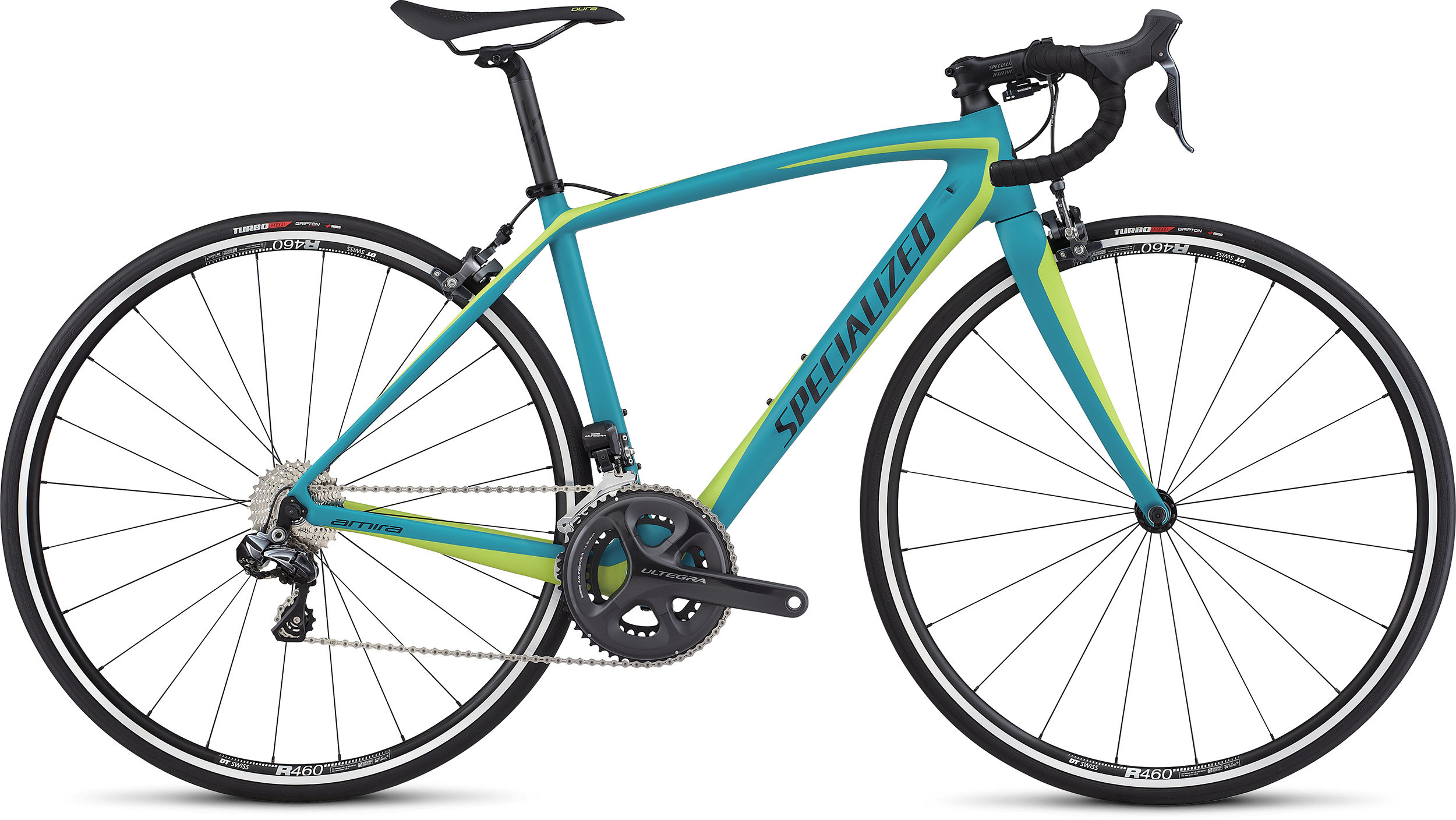 SPECIALIZED AMIRA SL4 COMP UDI2 TUR/HYP/BLK 44 - Bike Zone