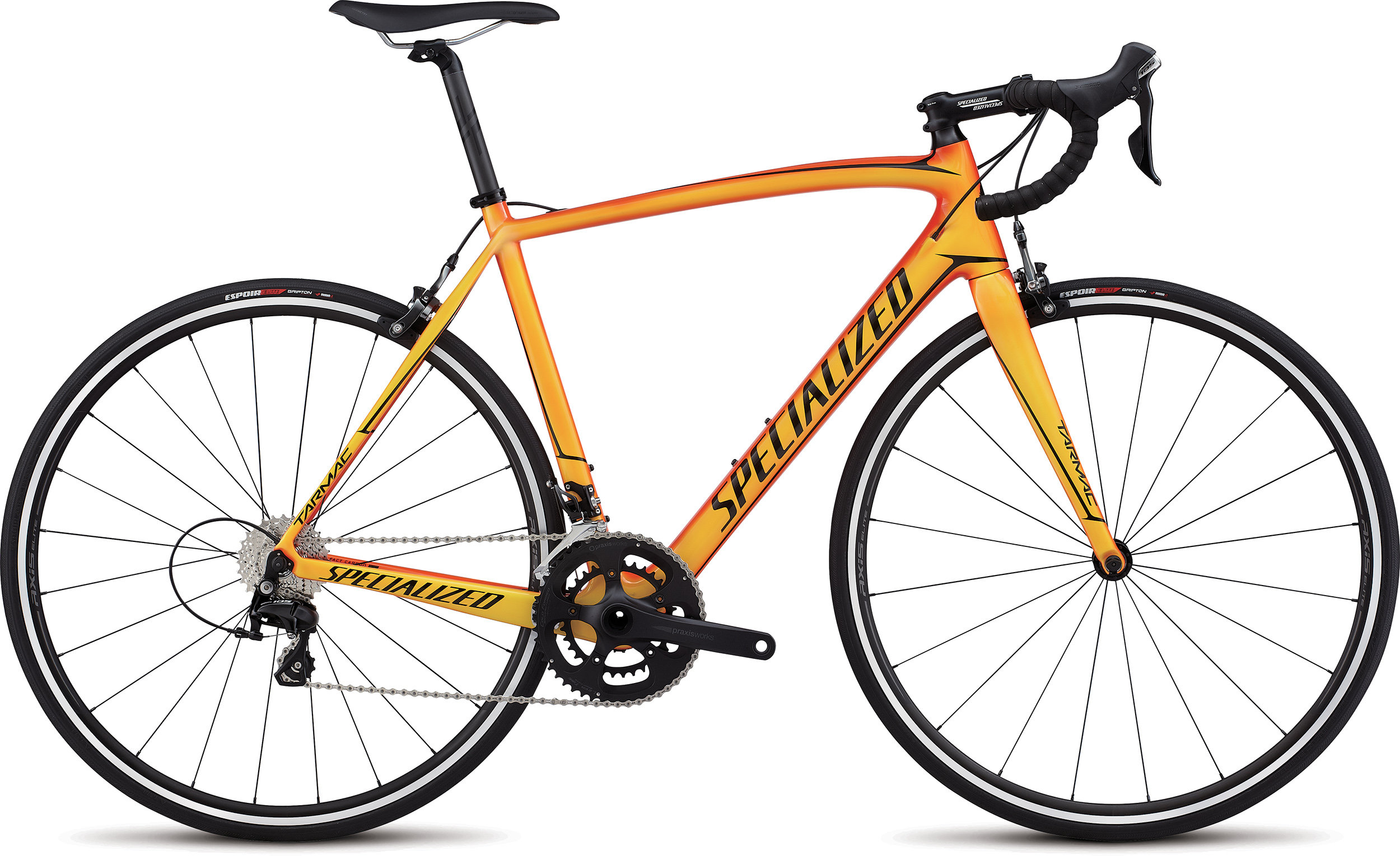 Specialized Tarmac SL4 Sport GLOSS MOTO ORANGE/BRIGHT YELLOW/TARMAC BLACK 56 - Alpha Bikes