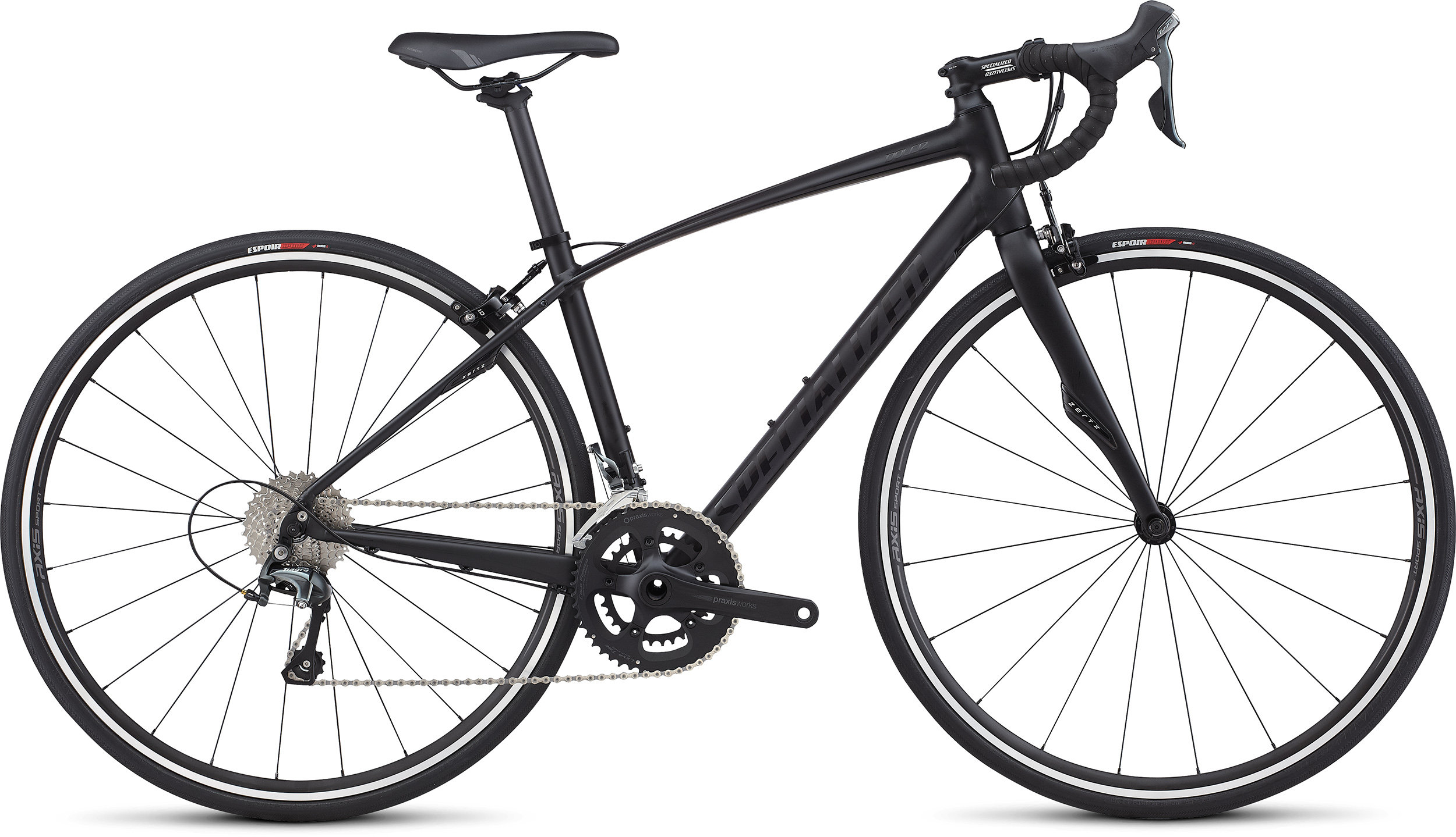 SPECIALIZED DOLCE E5 ELITE TARBLK/BLK 44 - Bike Zone
