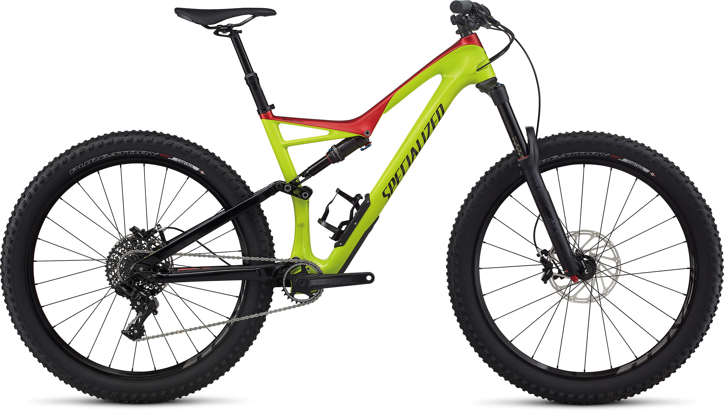 SPECIALIZED SJ FSR COMP CARBON 6FATTIE HYP/CNDYRED/BLK L - Bike Zone