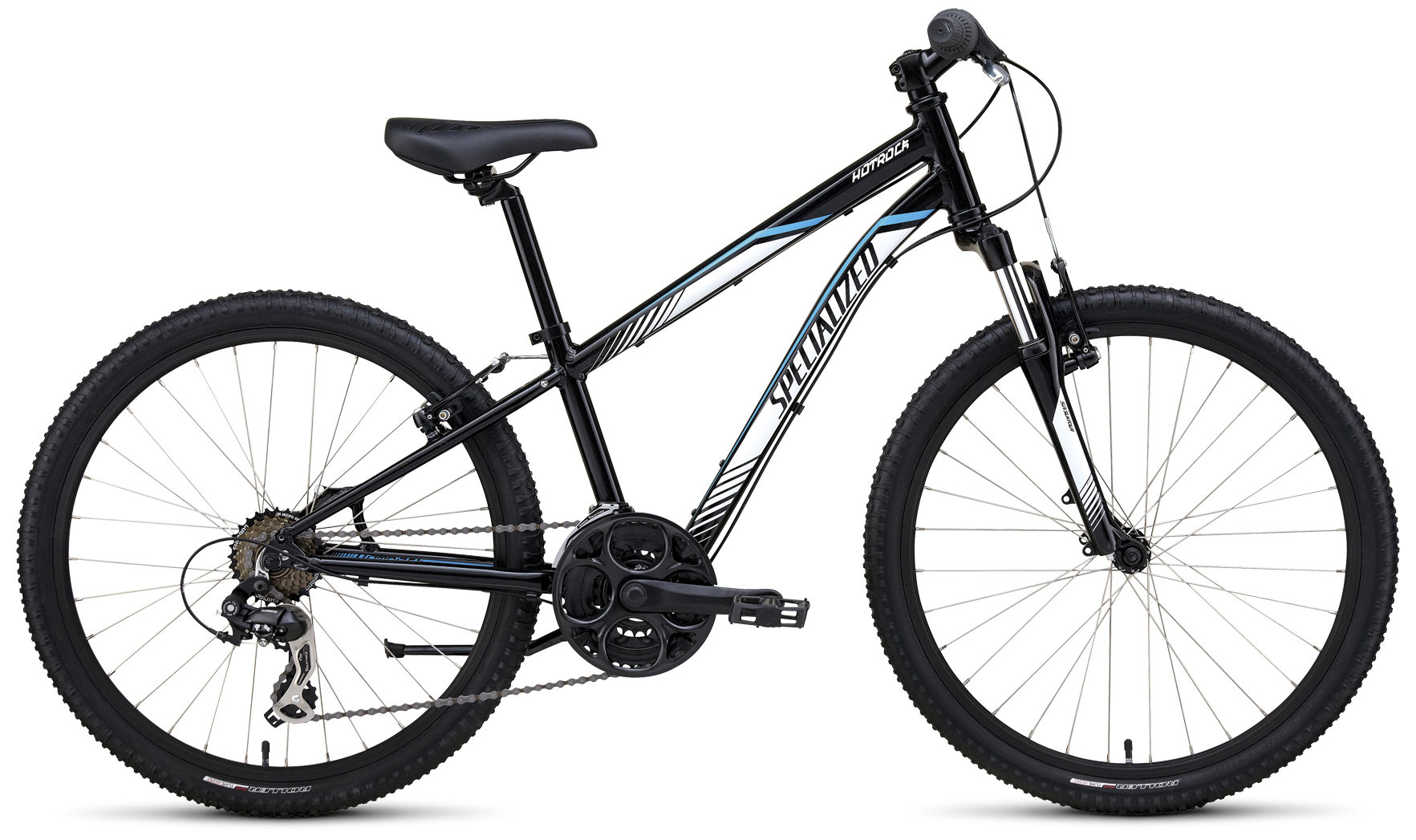 Specialized Boy´s 21-Speed Hotrock 24 Black/White/Cyan 24 - Pulsschlag Bike+Sport