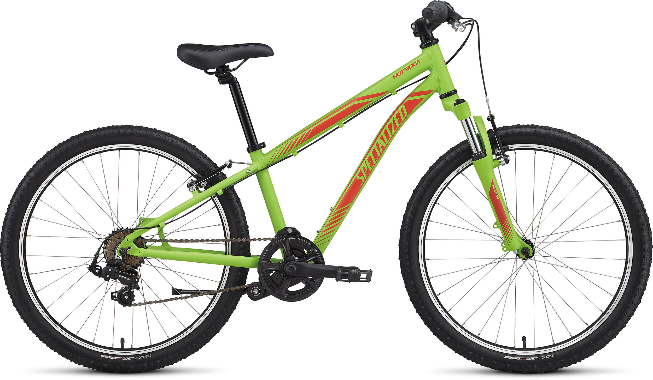 Specialized Boy´s 7-Speed Hotrock 24 Monster Green/Nordic Red 11 - Pulsschlag Bike+Sport