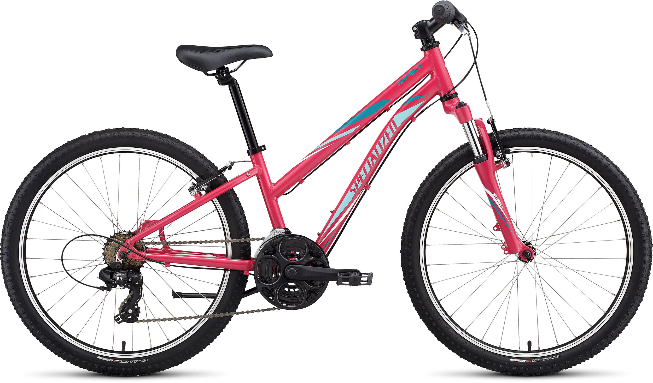 Specialized Girl´s 21-Speed Hotrock 24 Rainbow Flake Pink/Light Turquoise/Turquoise 11 - Pulsschlag Bike+Sport