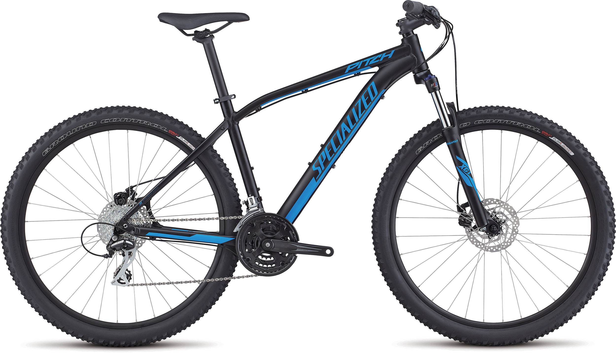SPECIALIZED PITCH 650B BLK/NENBLU L - Alpha Bikes