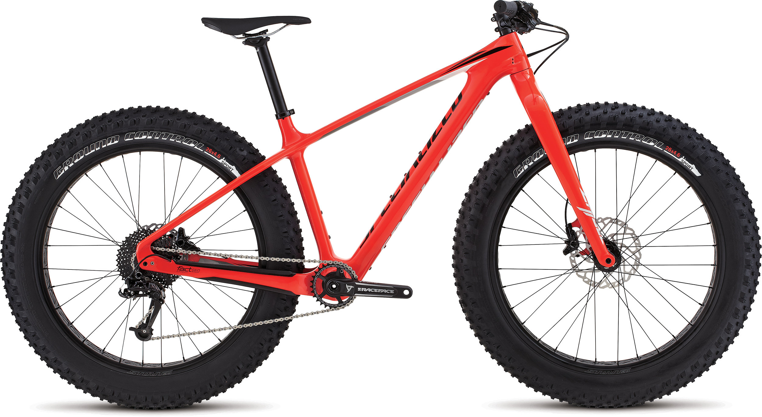 SPECIALIZED FATBOY COMP CARBON RKTRED/BLK/GRY S - Bike Maniac