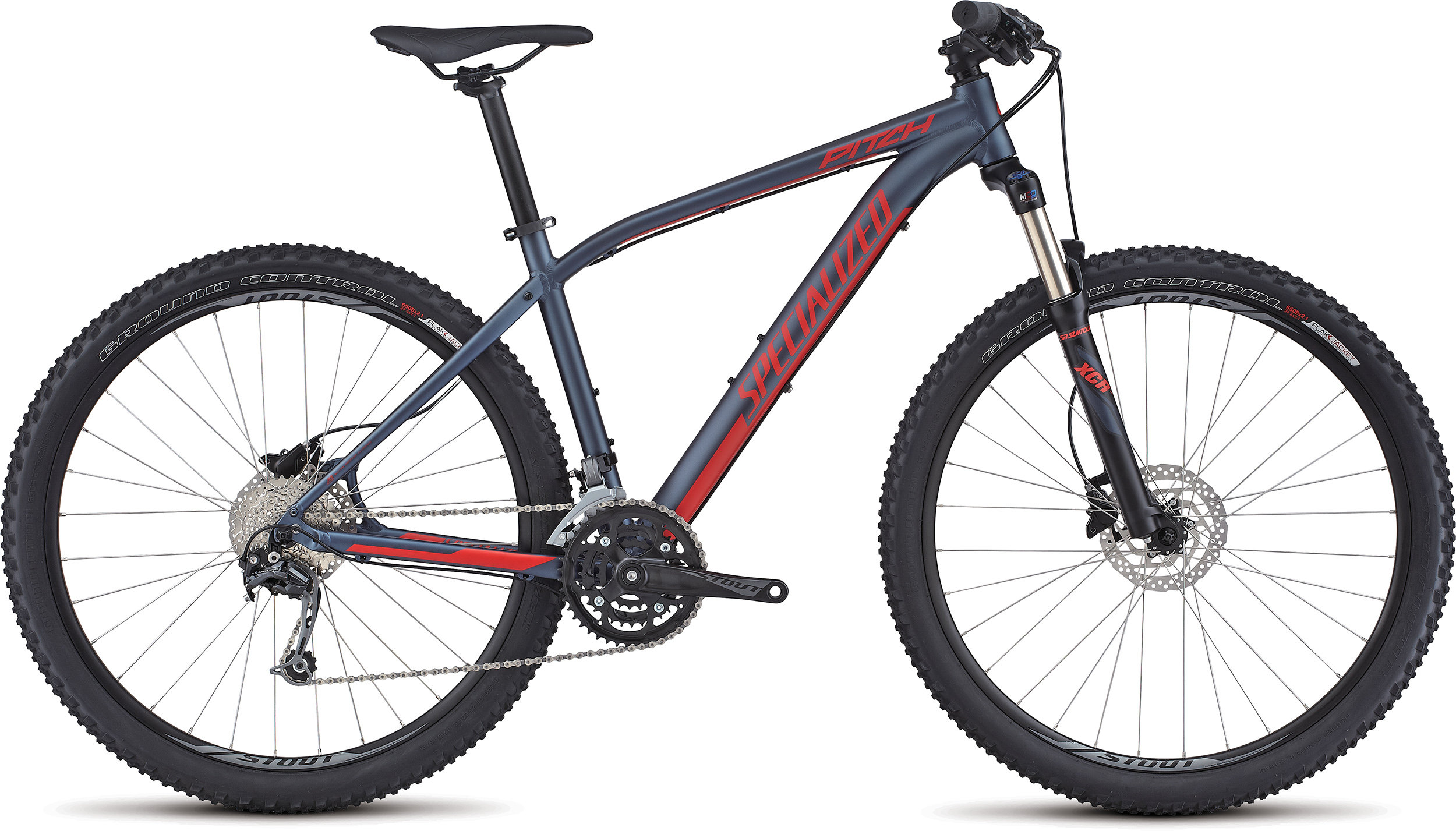 SPECIALIZED PITCH COMP 650B INK/NRDCRED L - Bike Zone
