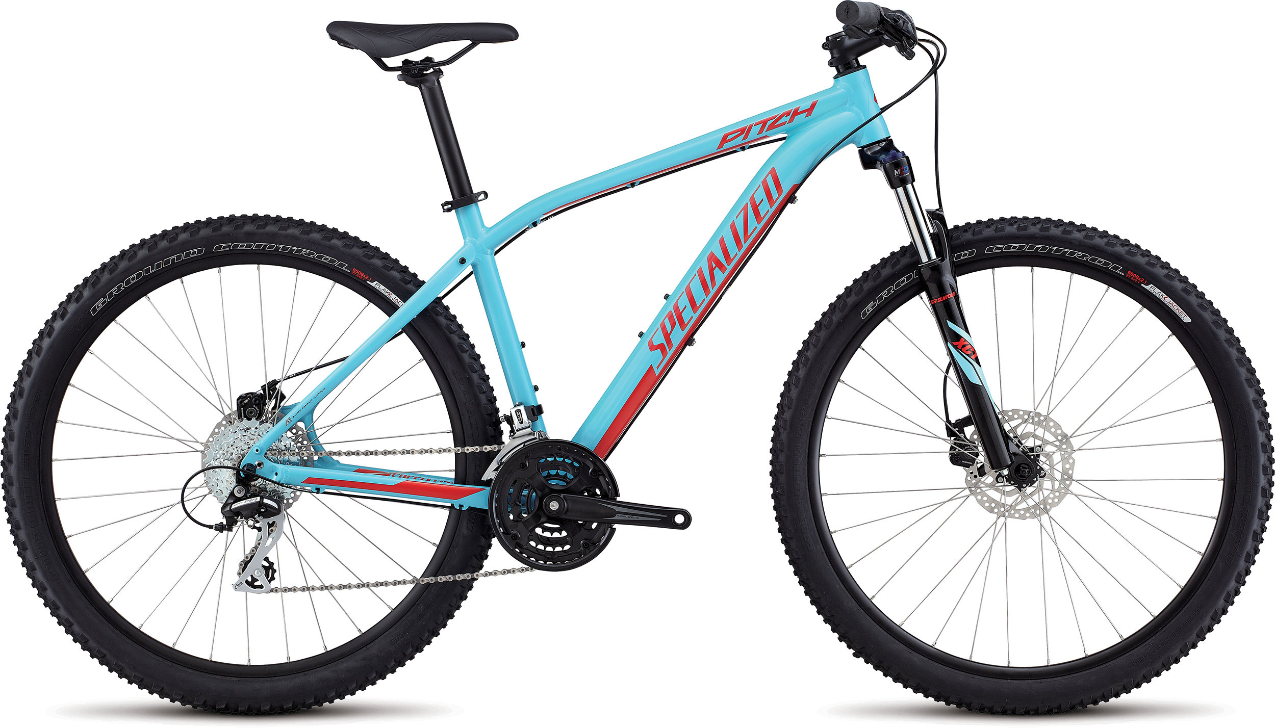 SPECIALIZED PITCH 650B LTBLU/NRDCRED XL - Alpha Bikes