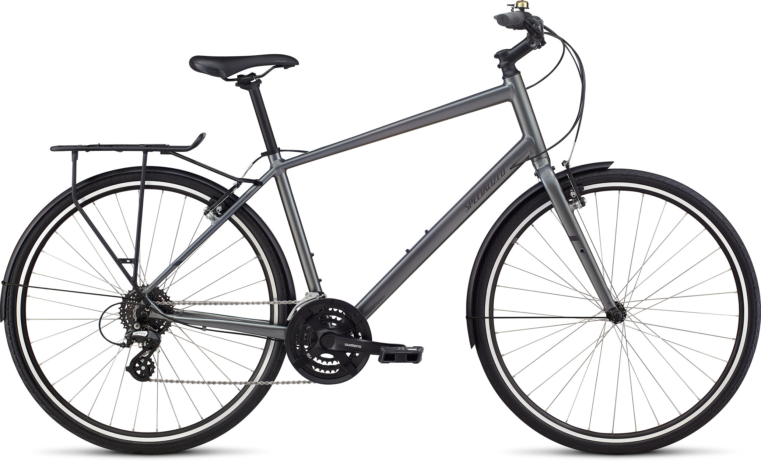 Specialized Alibi Sport EQ Charcoal / Black Reflective LG - Alpha Bikes