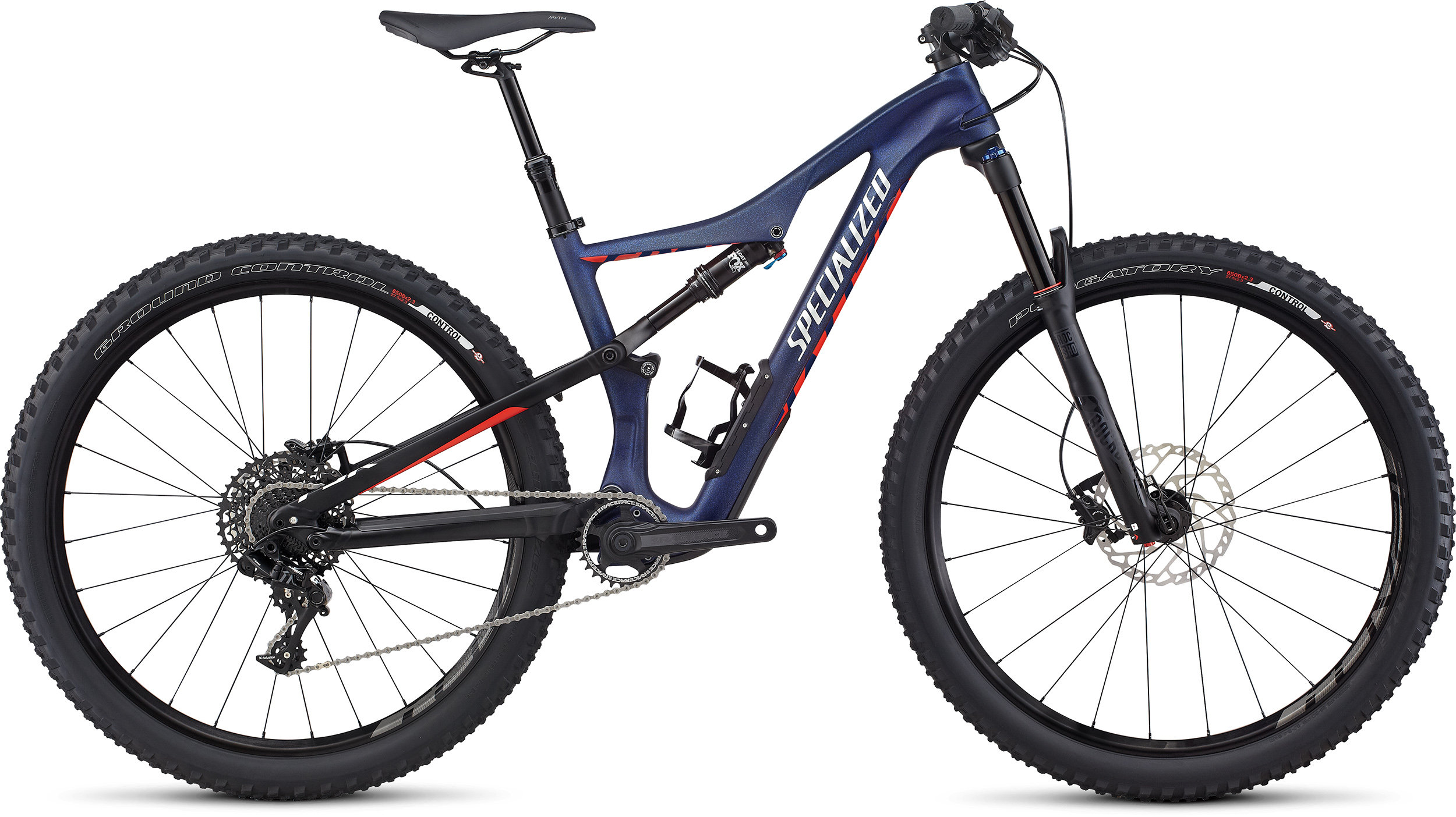 SPECIALIZED CAMBER WMN FSR COMP CARBON 650B NBLBLU/NRDCRED/FLKSIL L - Bike Zone