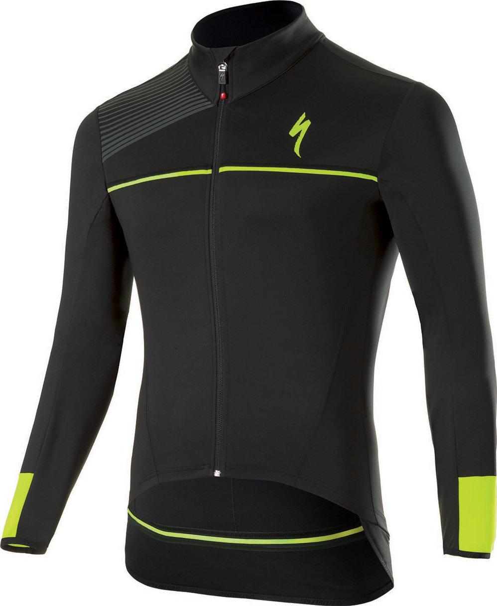 Specialized Element SL Elite WR jersey LS Black/Neon Yellow XL - Alpha Bikes