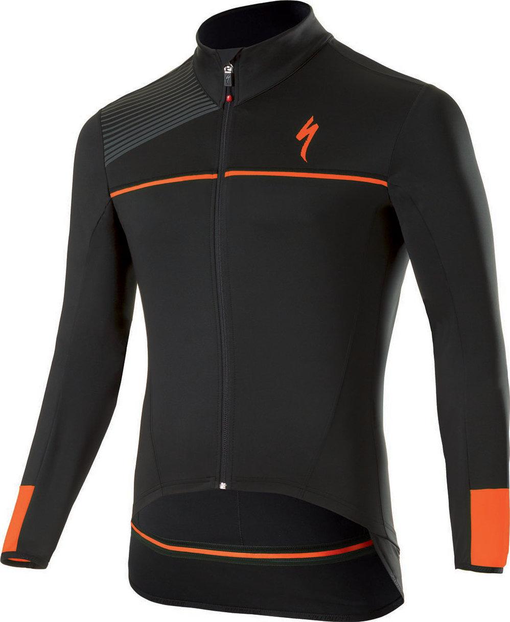 Specialized Element SL Elite WR jersey LS Black/Neon Orange XL - Alpha Bikes