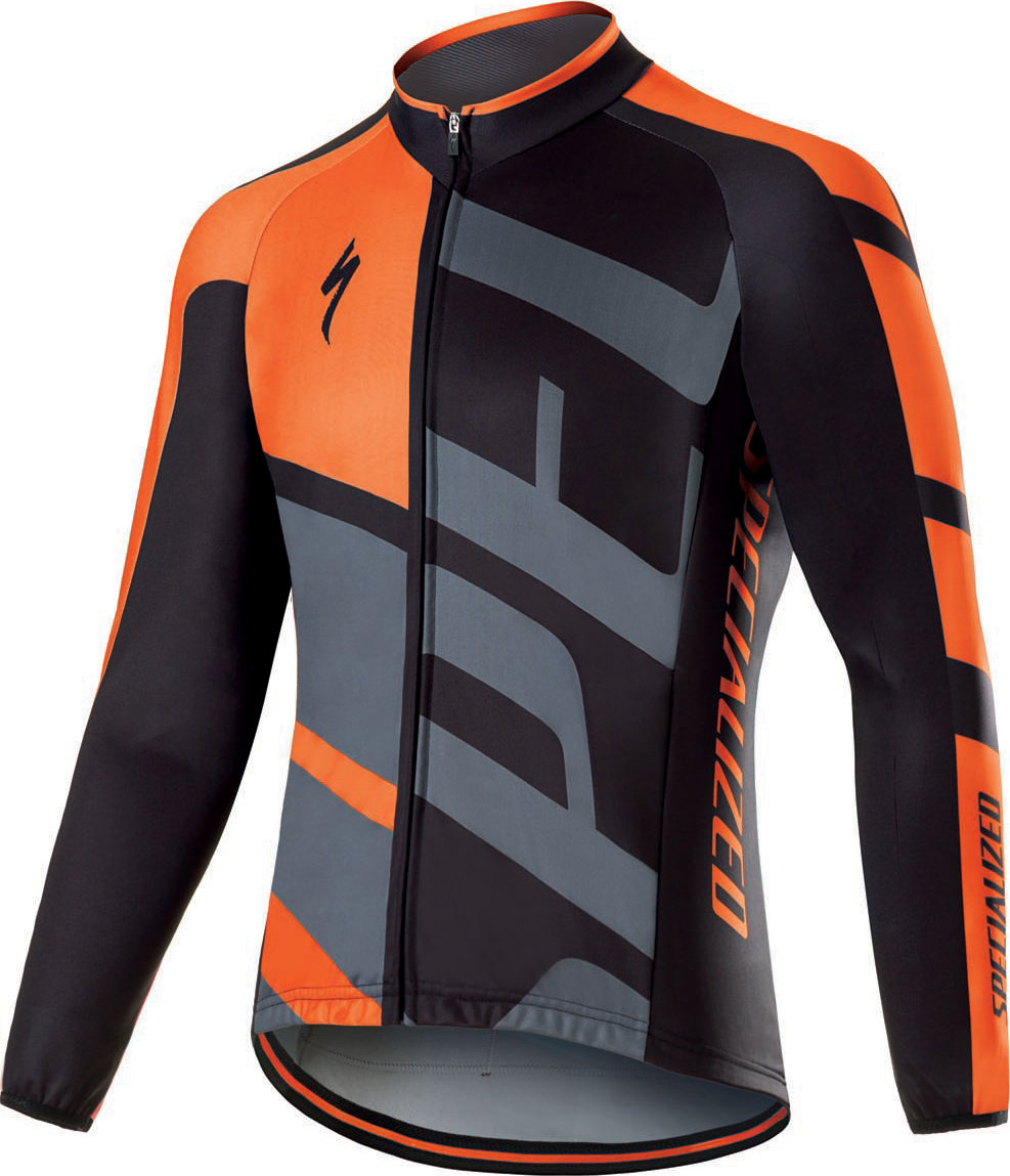 Specialized Therminal RBX Comp Logo LS Jersey Neon Orange/Anthracite S - Alpha Bikes