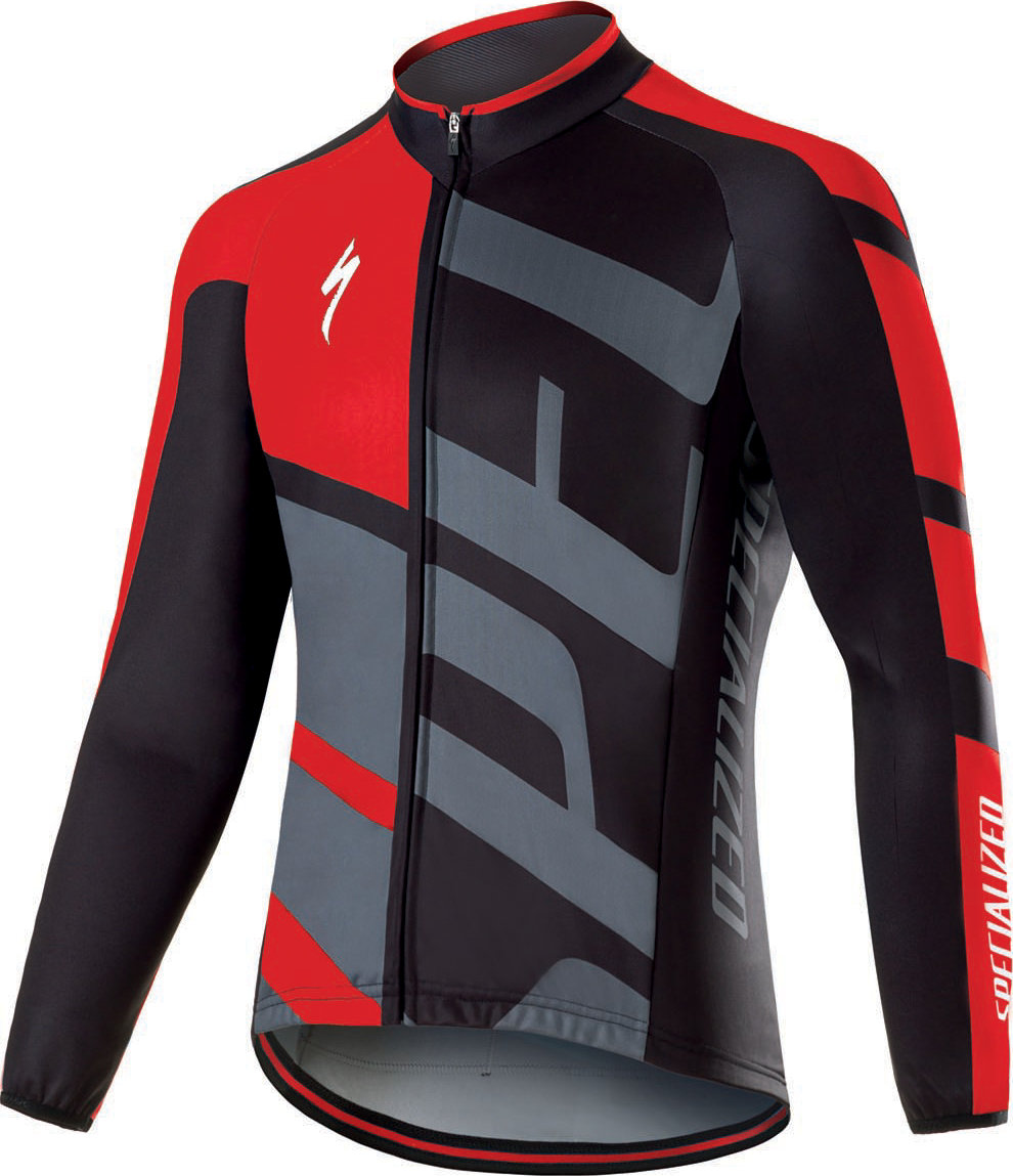 Specialized Therminal RBX Comp Logo LS Jersey Red/Anthracite M - Alpha Bikes