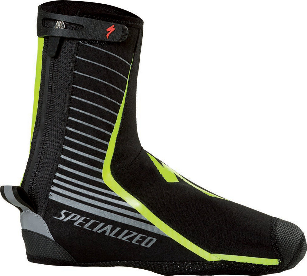 SPECIALIZED DEFLECT PRO SHOE COVER BLK/NEON YEL L - Alpha Bikes