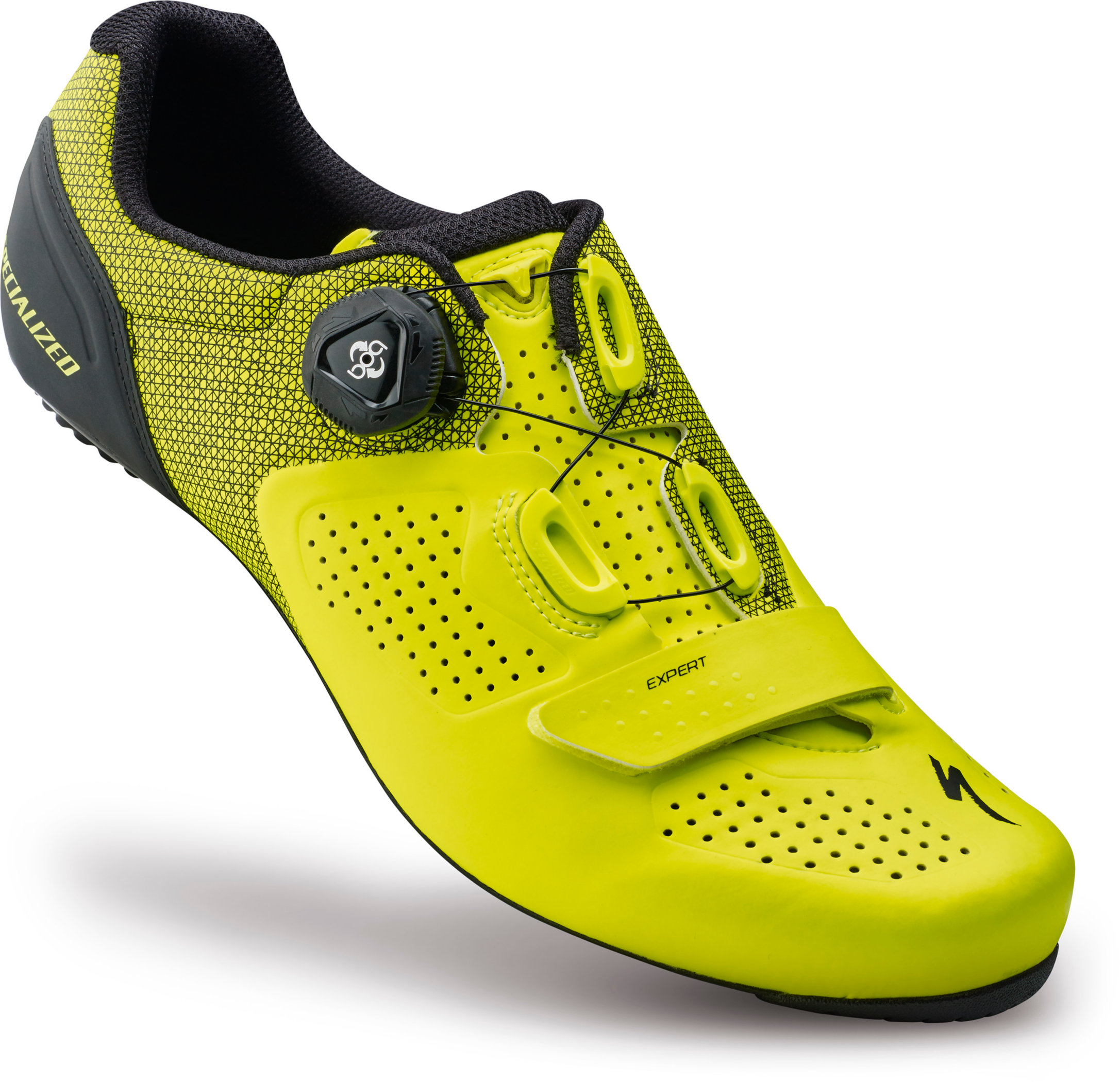 SPECIALIZED EXPERT RD SHOE NEON YEL 41/8 - Bikedreams & Dustbikes