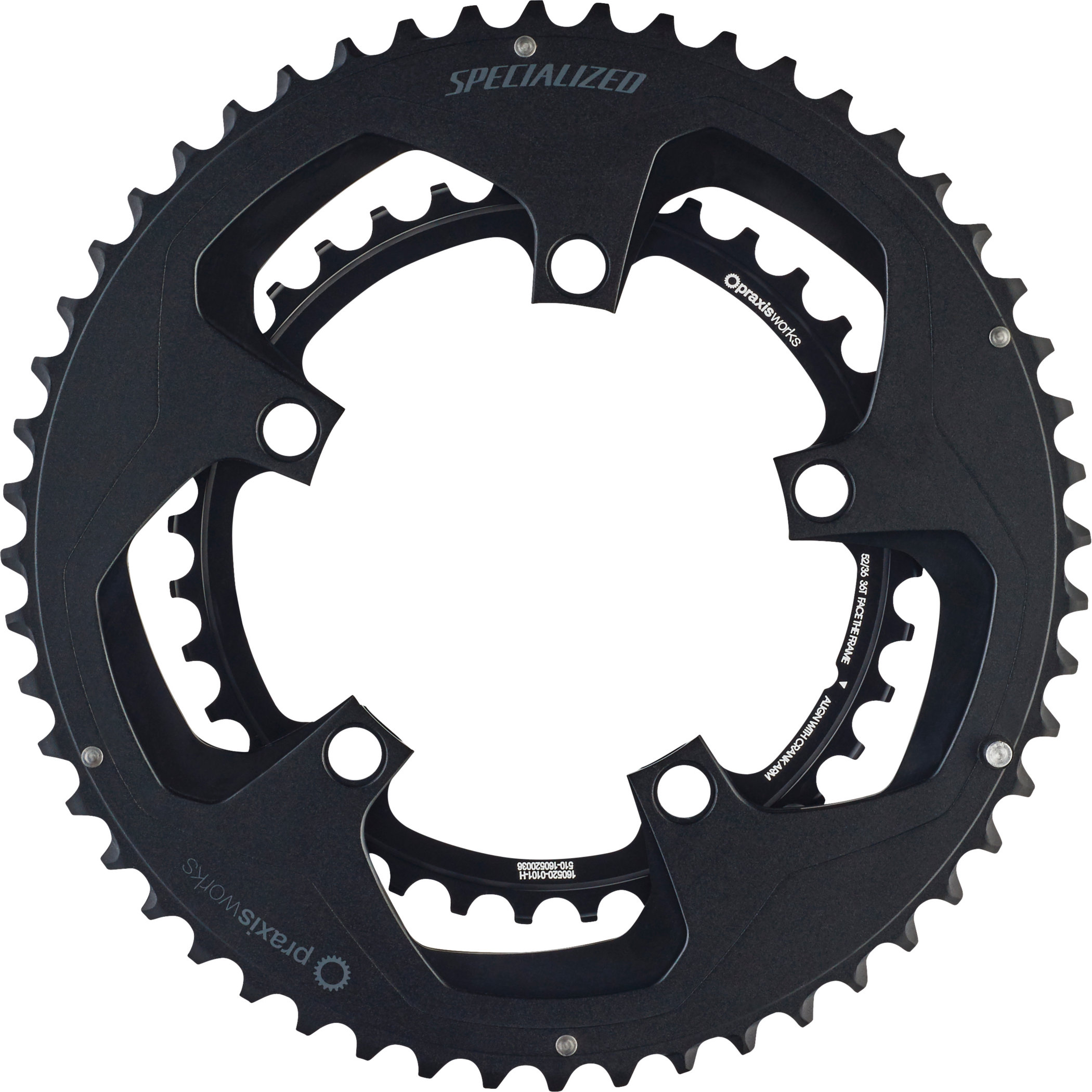 SPECIALIZED SPECIALIZED CHAINRING SET BLK 110X52/36T - SPECIALIZED SPECIALIZED CHAINRING SET BLK 110X52/36T