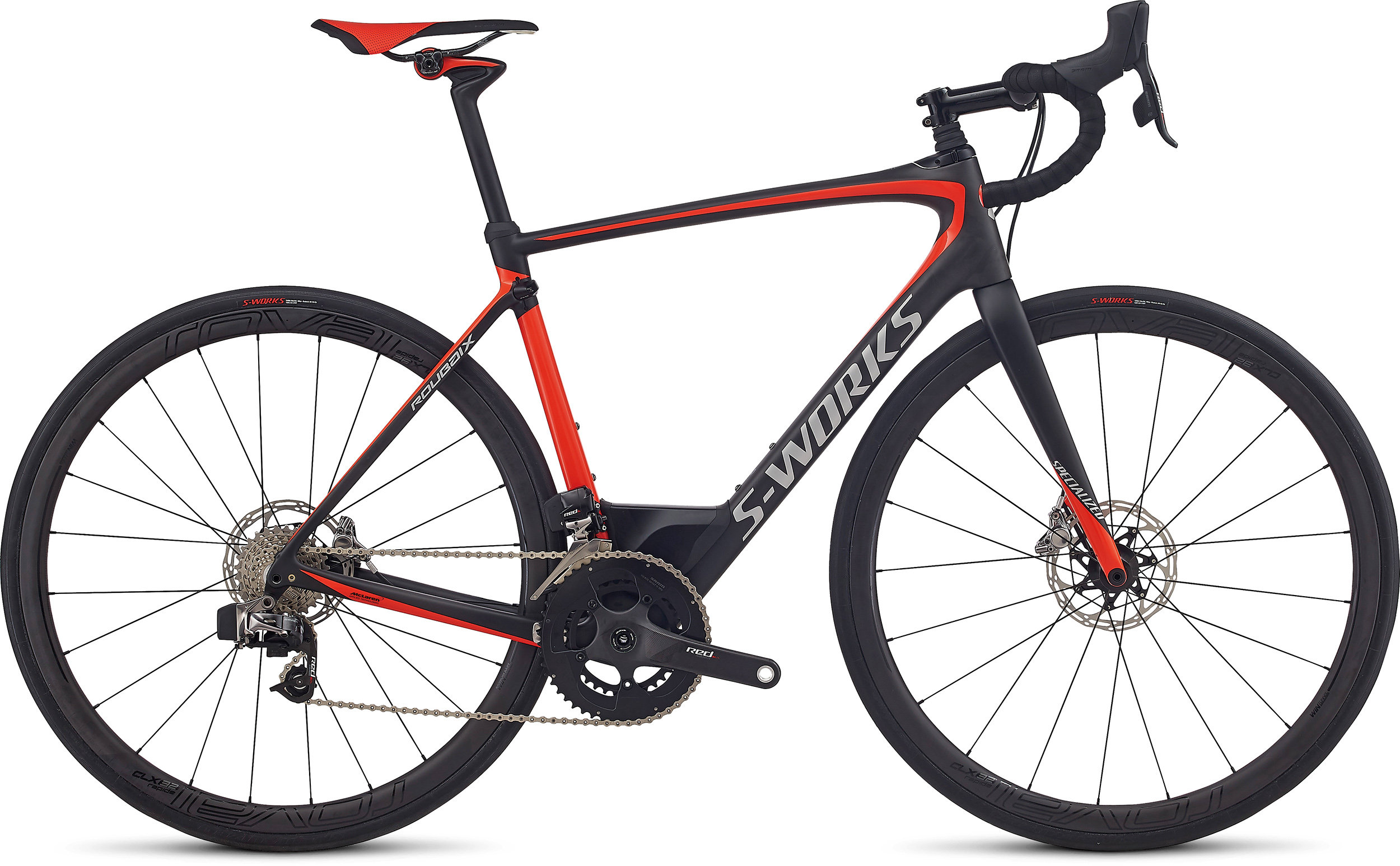 Specialized S-Works Roubaix eTap CARBON / ROCKET RED / KOOL SILVER 56 - Alpha Bikes