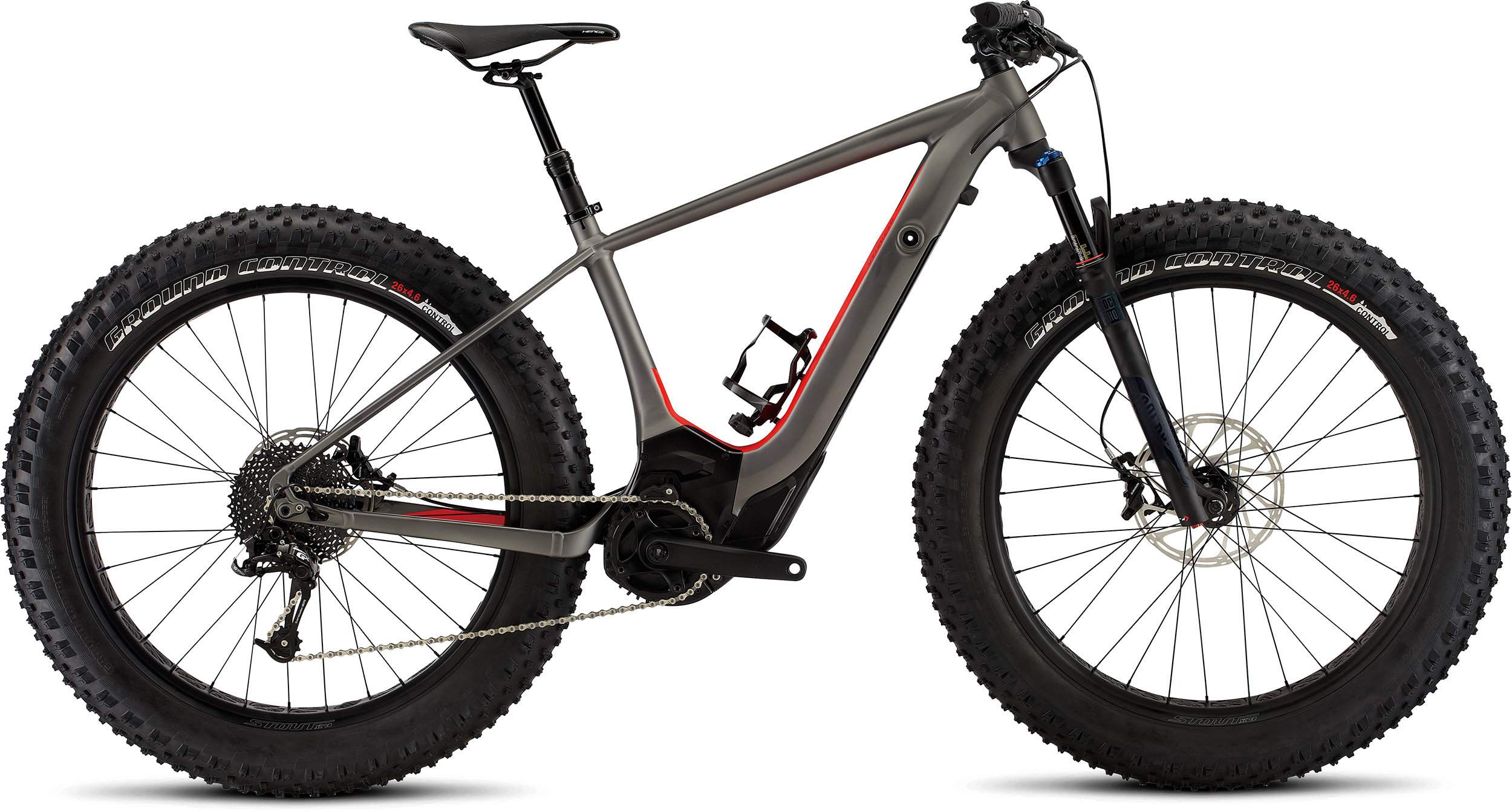 SPECIALIZED LEVO HT COMP FAT CE CHAR/RKTRED S - Bike Maniac