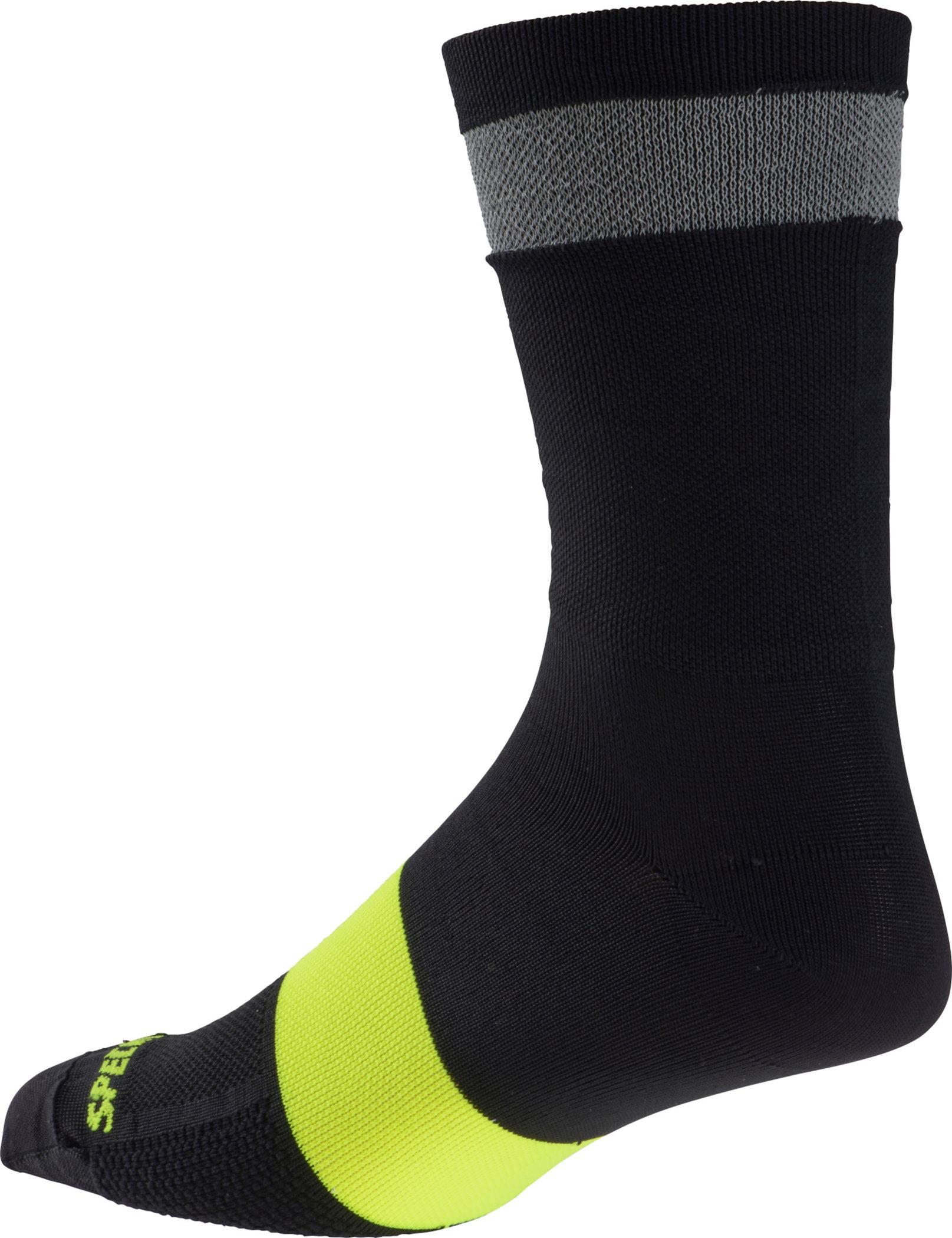 Specialized Women´s Reflect Tall Socks Black Medium/Large - Alpha Bikes