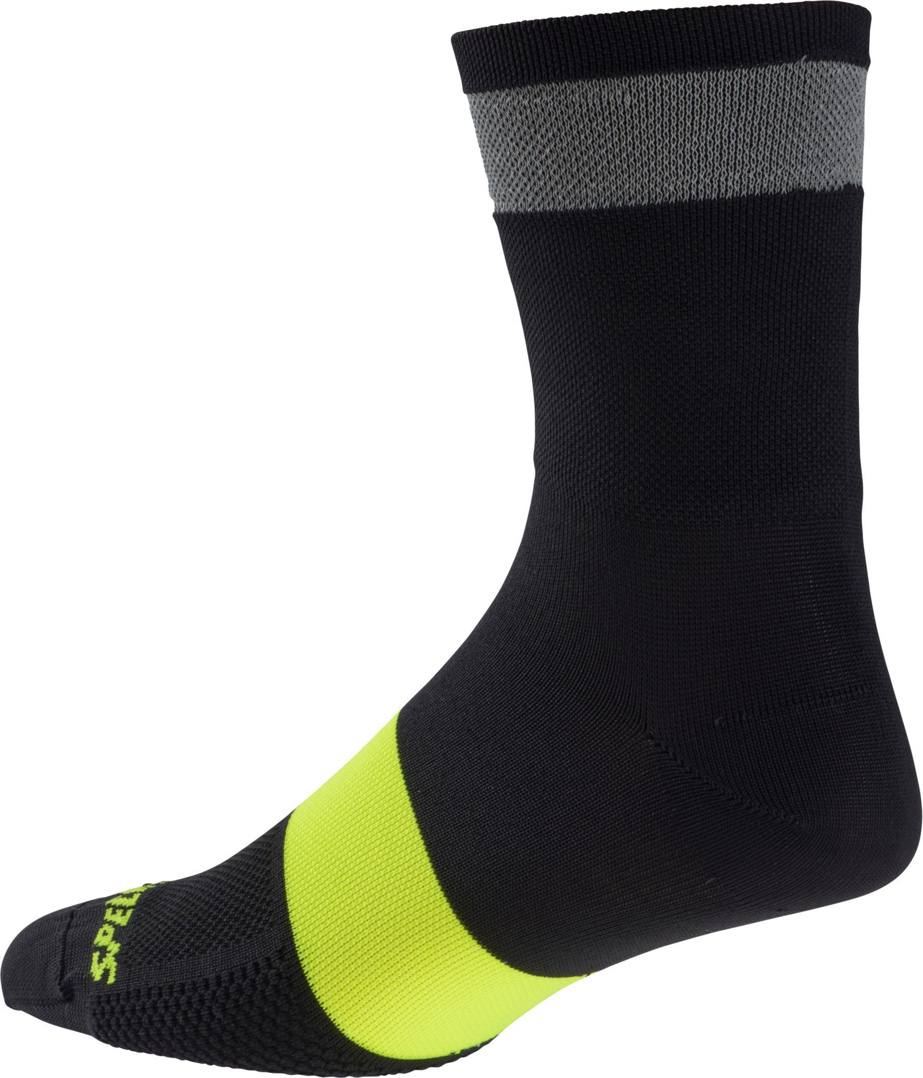 Specialized Reflect Tall Socks Black Large/X-Large - Alpha Bikes