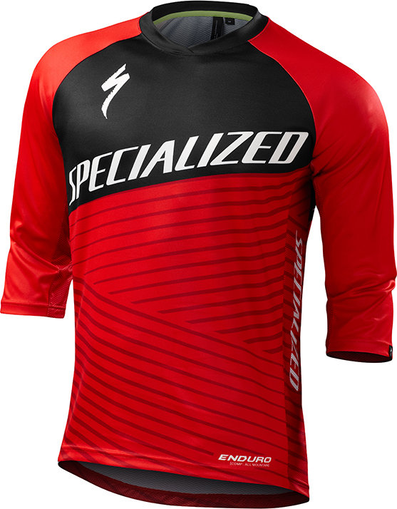 Specialized Enduro Comp 3/4 Jersey Team Red X-Large - Alpha Bikes