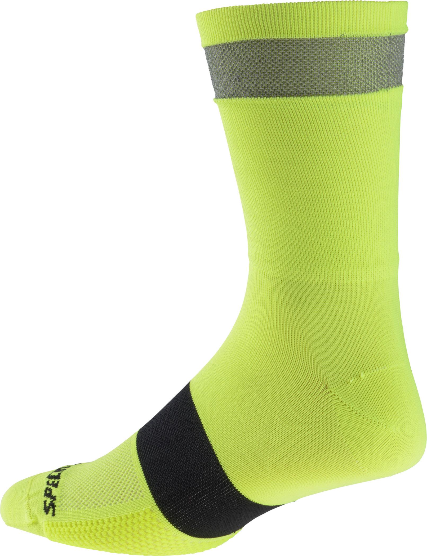 Specialized Women´s Reflect Tall Socks Neon Yellow Medium/Large - Alpha Bikes