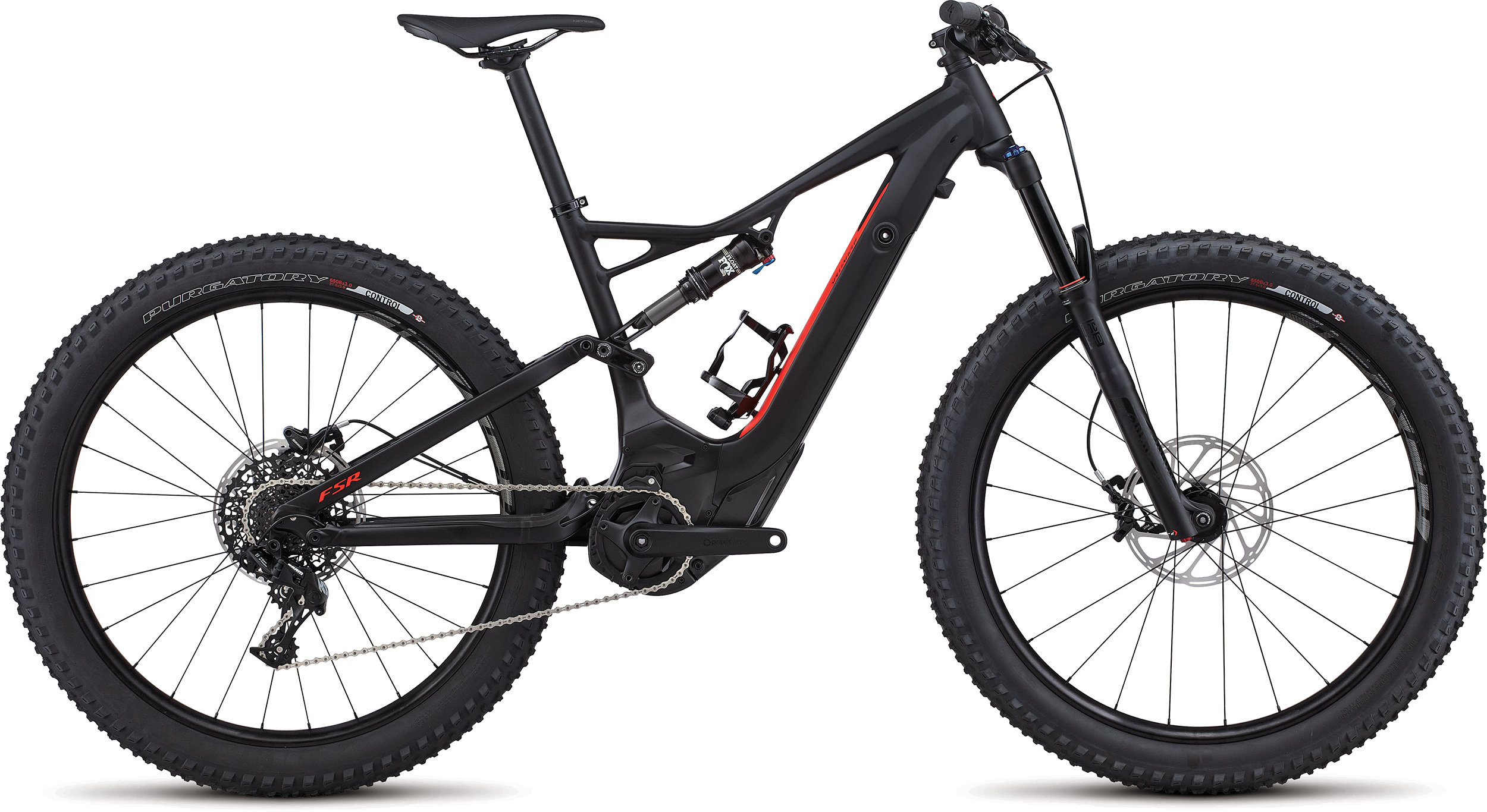 SPECIALIZED LEVO FSR 6FATTIE CE BLK/RKTRED L - Bike Zone