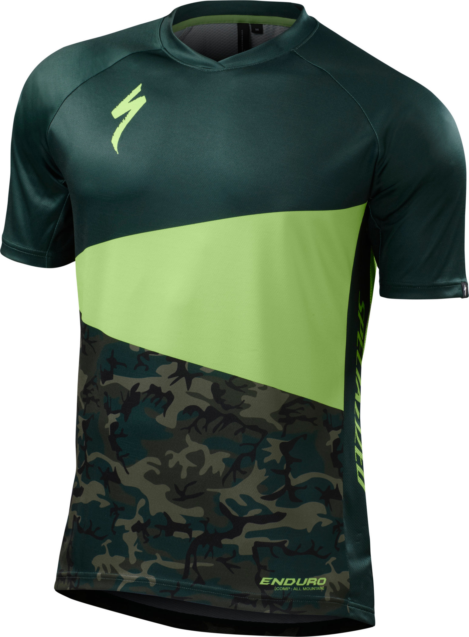 Specialized Enduro Comp Jersey Monster Green/Camo Large - Alpha Bikes