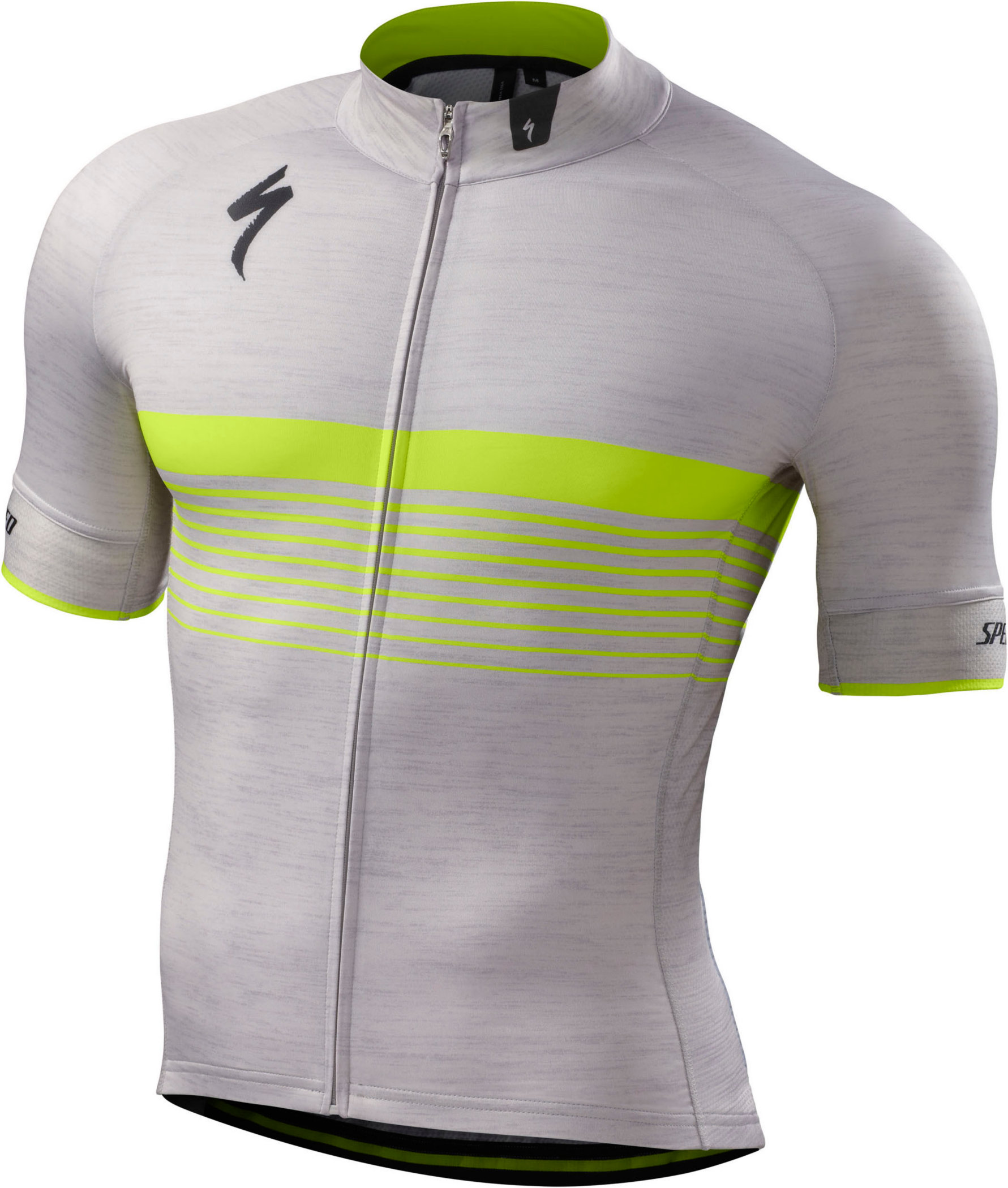Specialized SL Expert Jersey Light Grey Heather/Neon Yellow X-Large - Alpha Bikes