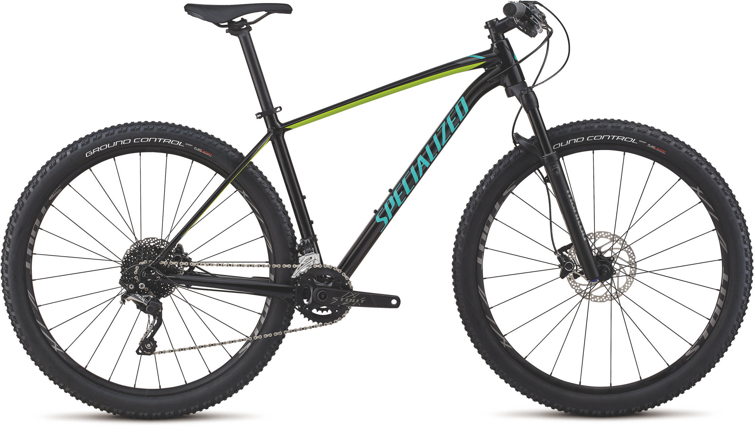 Specialized Men´s Rockhopper Pro GLOSS TARMAC BLACK / HYPER / ACID MINT L - Alpha Bikes