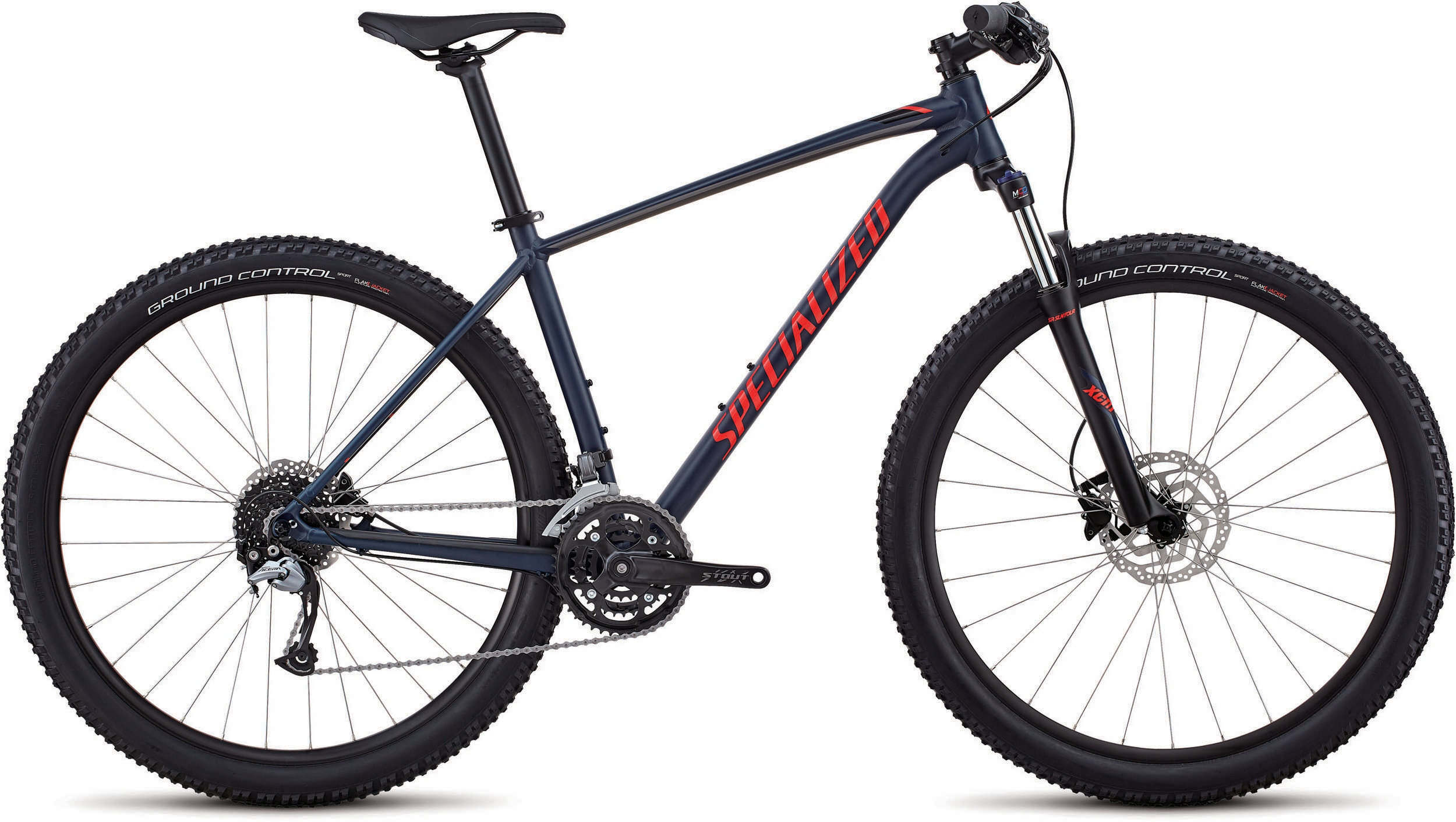 Specialized Men´s Rockhopper Comp SATIN GLOSS CAST BLUE / CHARCOAL / ROCKET RED L - Bike Zone