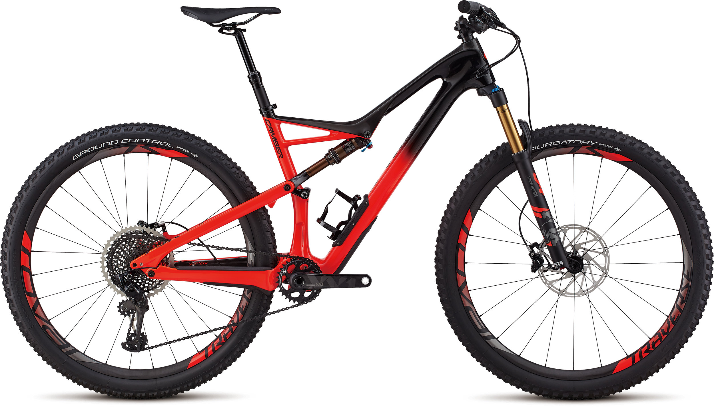Specialized Men´s S-Works Camber 29 GLOSS SATIN BLACK / ROCKET RED S - Bike Maniac