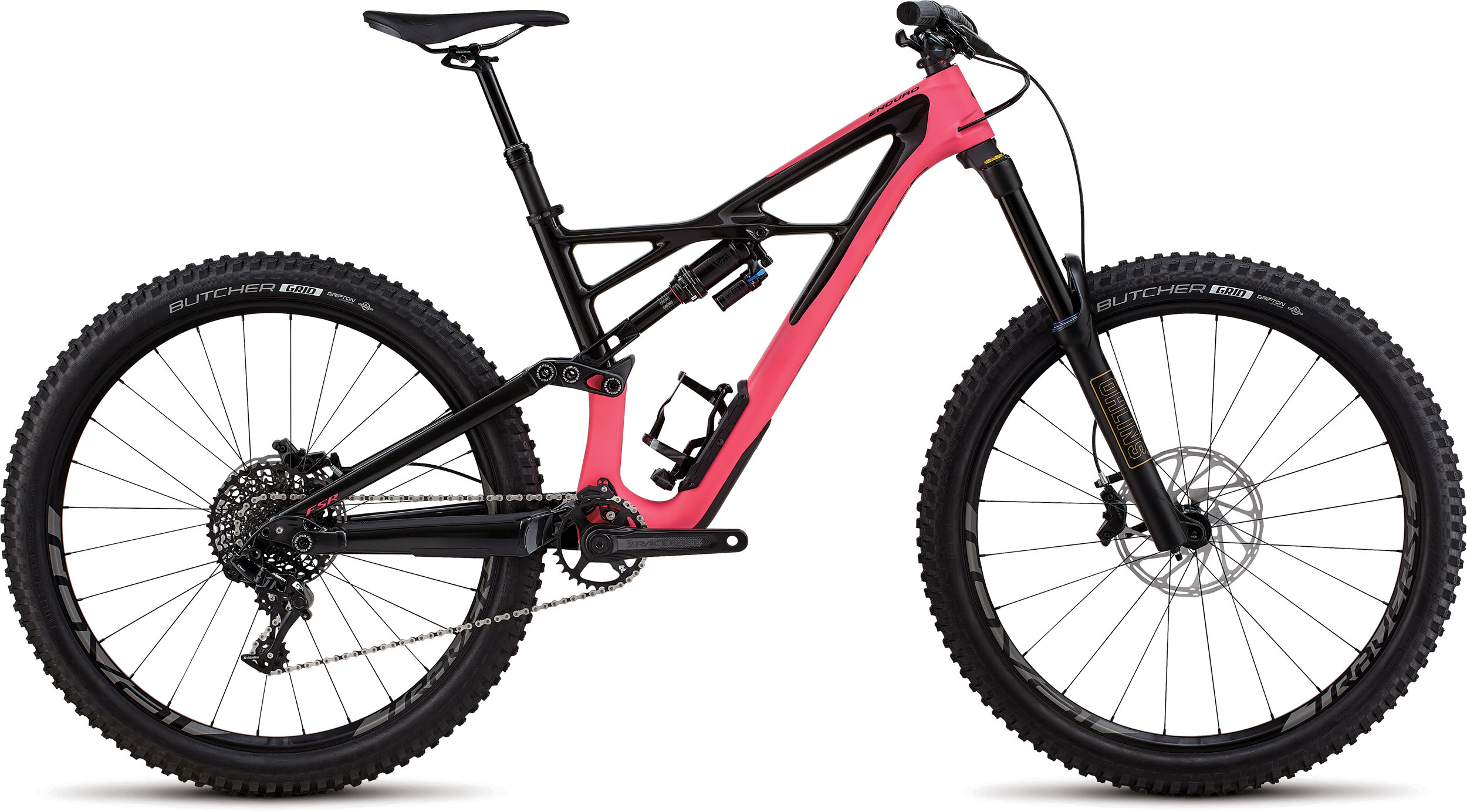 Specialized Enduro Elite 27.5 SATIN GLOSS ACID PINK / CARBON L - Bike Zone