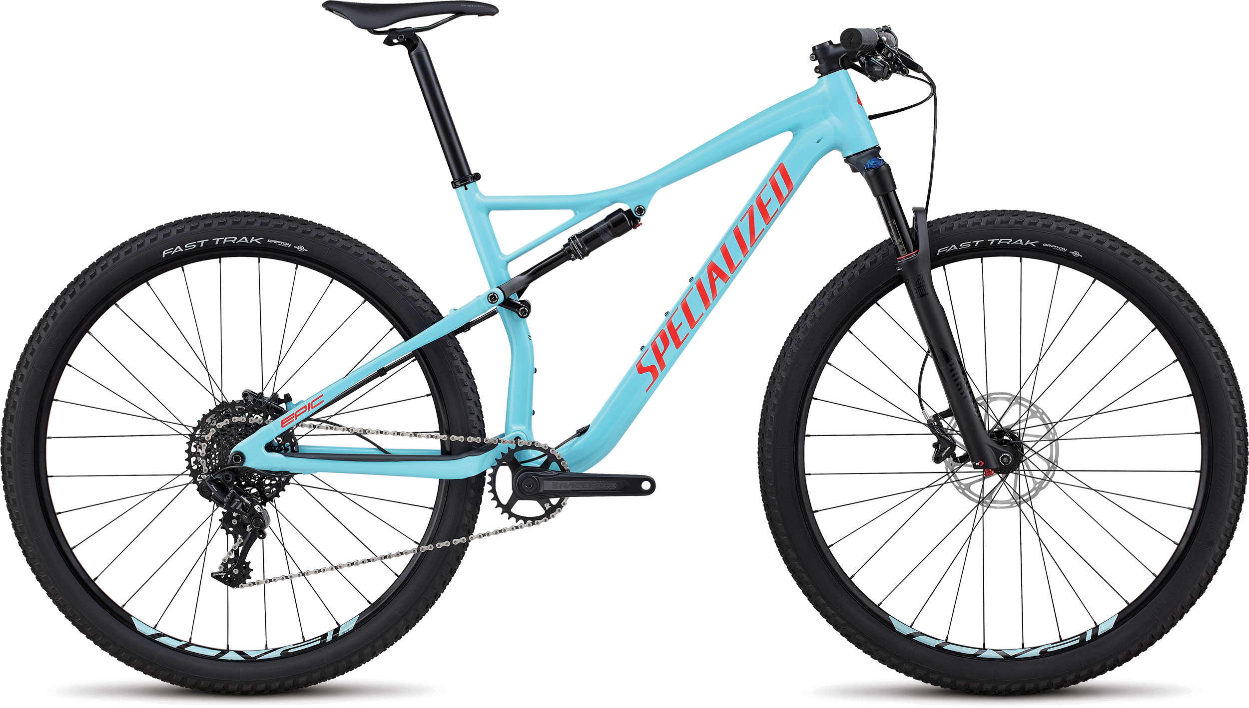 Specialized Men´s Epic Comp GLOSS LIGHT BLUE / ROCKET RED S - Bike Maniac