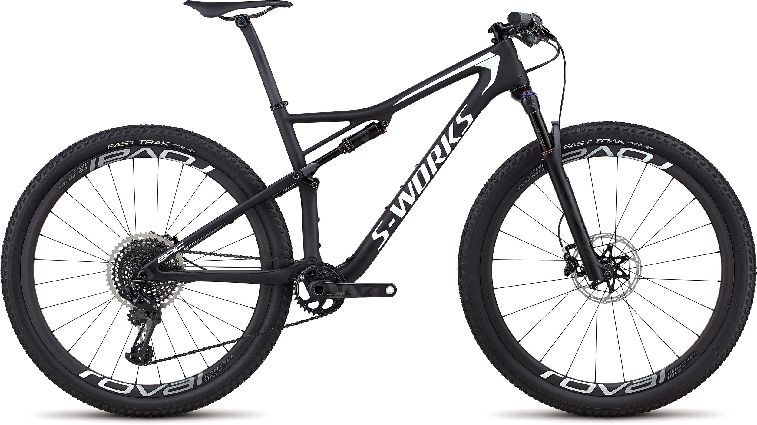 Specialized Men´s S-Works Epic XX1 Eagle SATIN GLOSS BLACK / METALLIC WHITE SILVER S - Bike Maniac