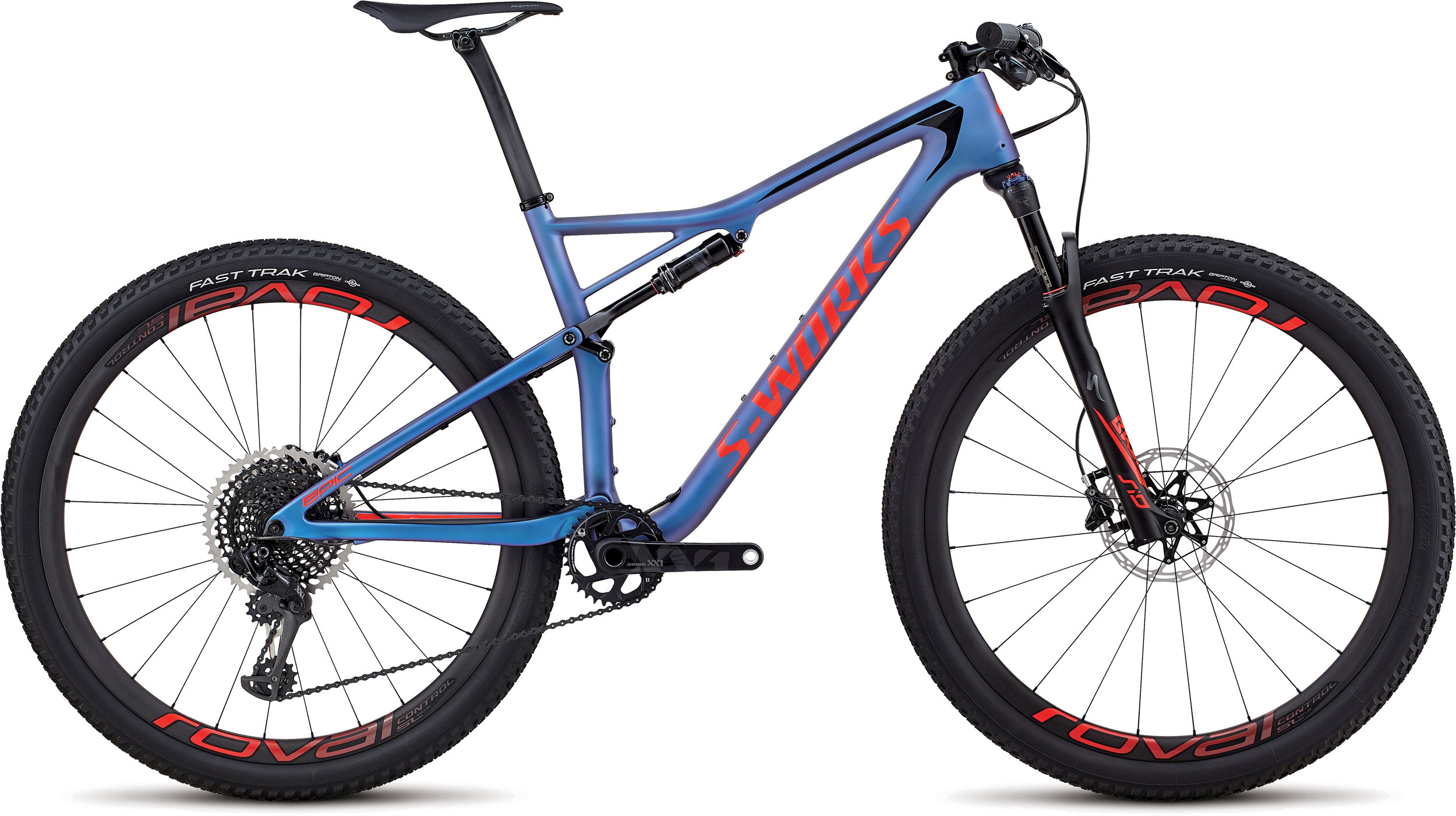 Specialized Men´s S-Works Epic XX1 Eagle SATIN GLOSS CHAMELEON PURPLE / ROCKET RED / BLACK S - Alpha Bikes