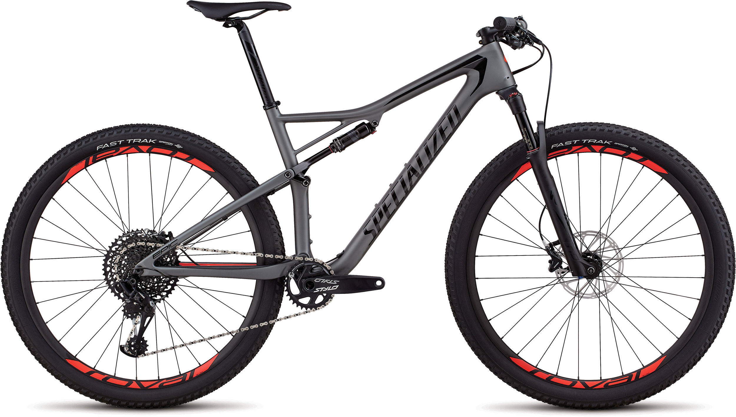 Specialized Men´s Epic Expert SATIN CHARCOAL / BLACK / ROCKET RED S - Bike Maniac