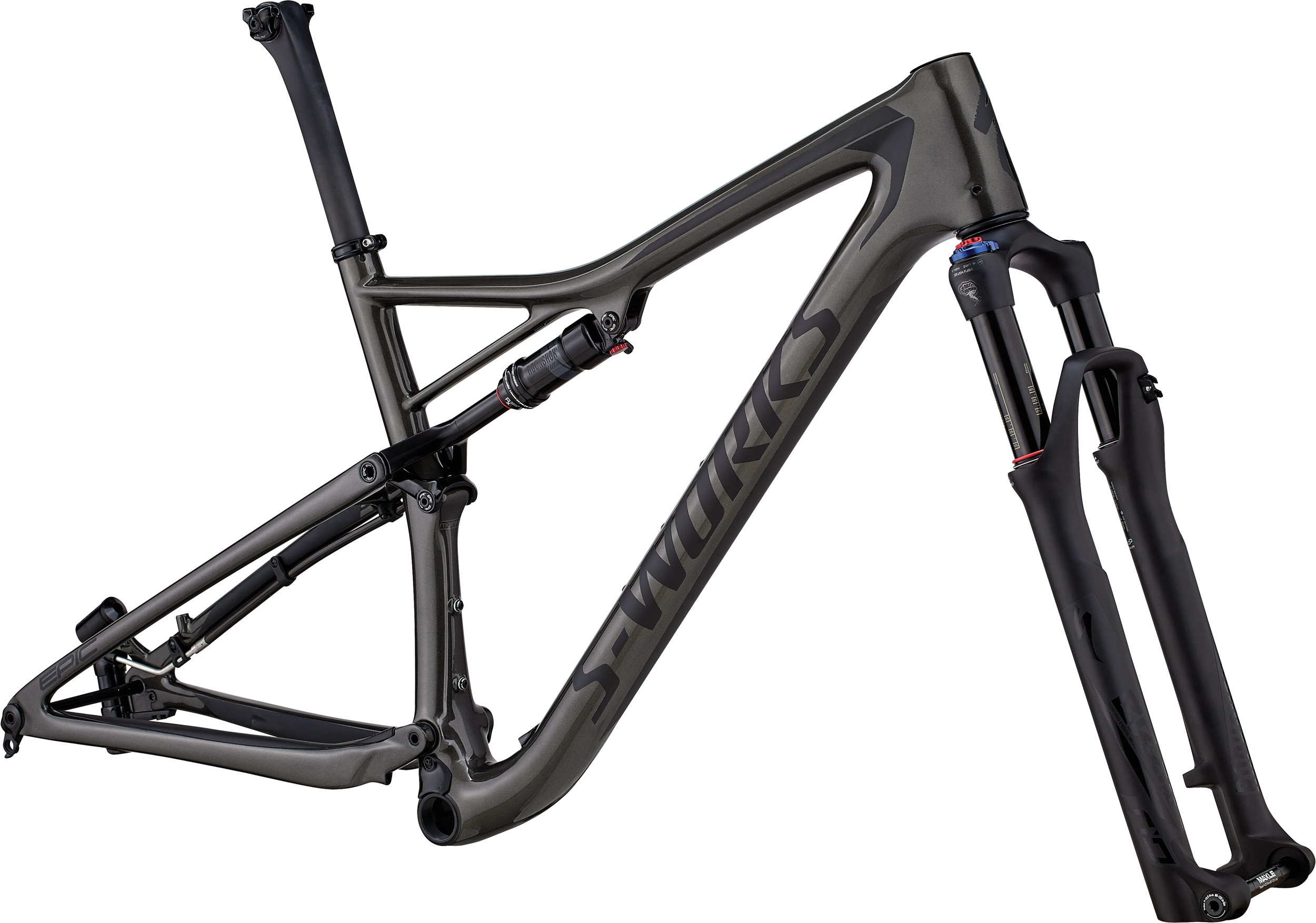 Specialized Men´s S-Works Epic Frameset GLOSS SATIN CHARCOAL TINT CARBON / BLACK L - Alpha Bikes