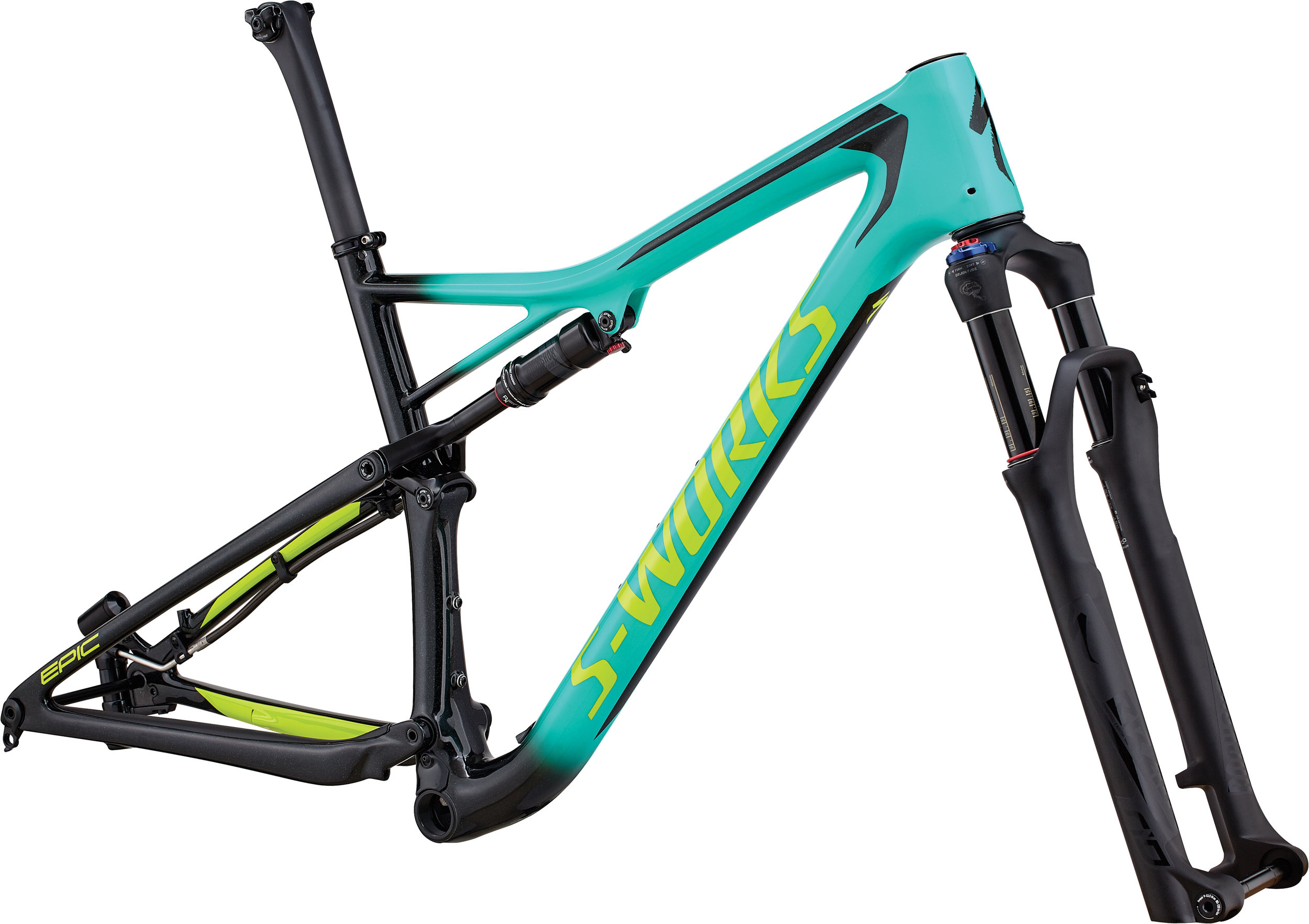 Specialized Men´s S-Works Epic Frameset GLOSS ACID MINT / COSMIC BLACK / HYPER GREEN S - Bike Maniac