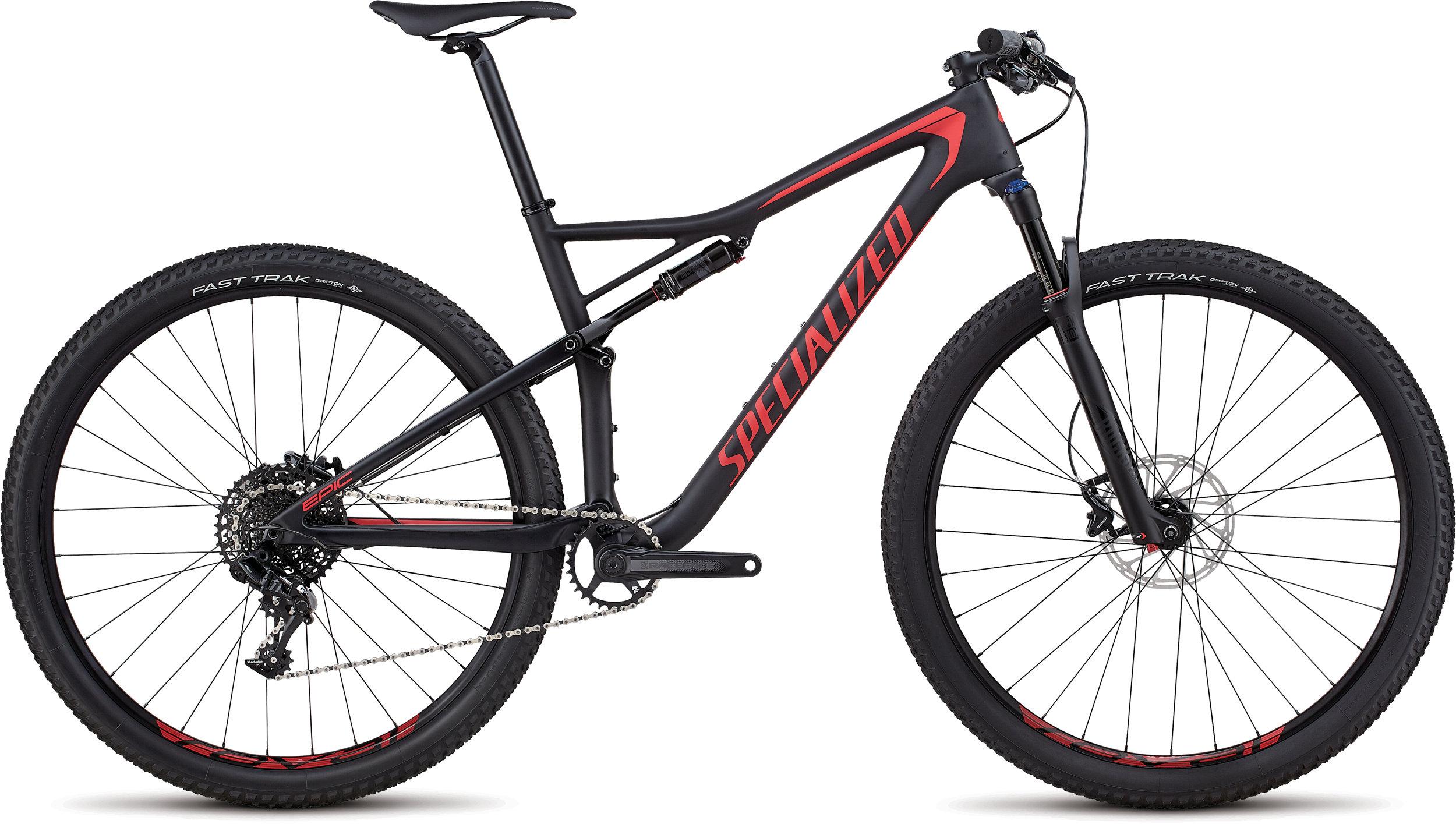 Specialized Men´s Epic Comp Carbon SATIN BLACK / FLO RED L - Alpha Bikes
