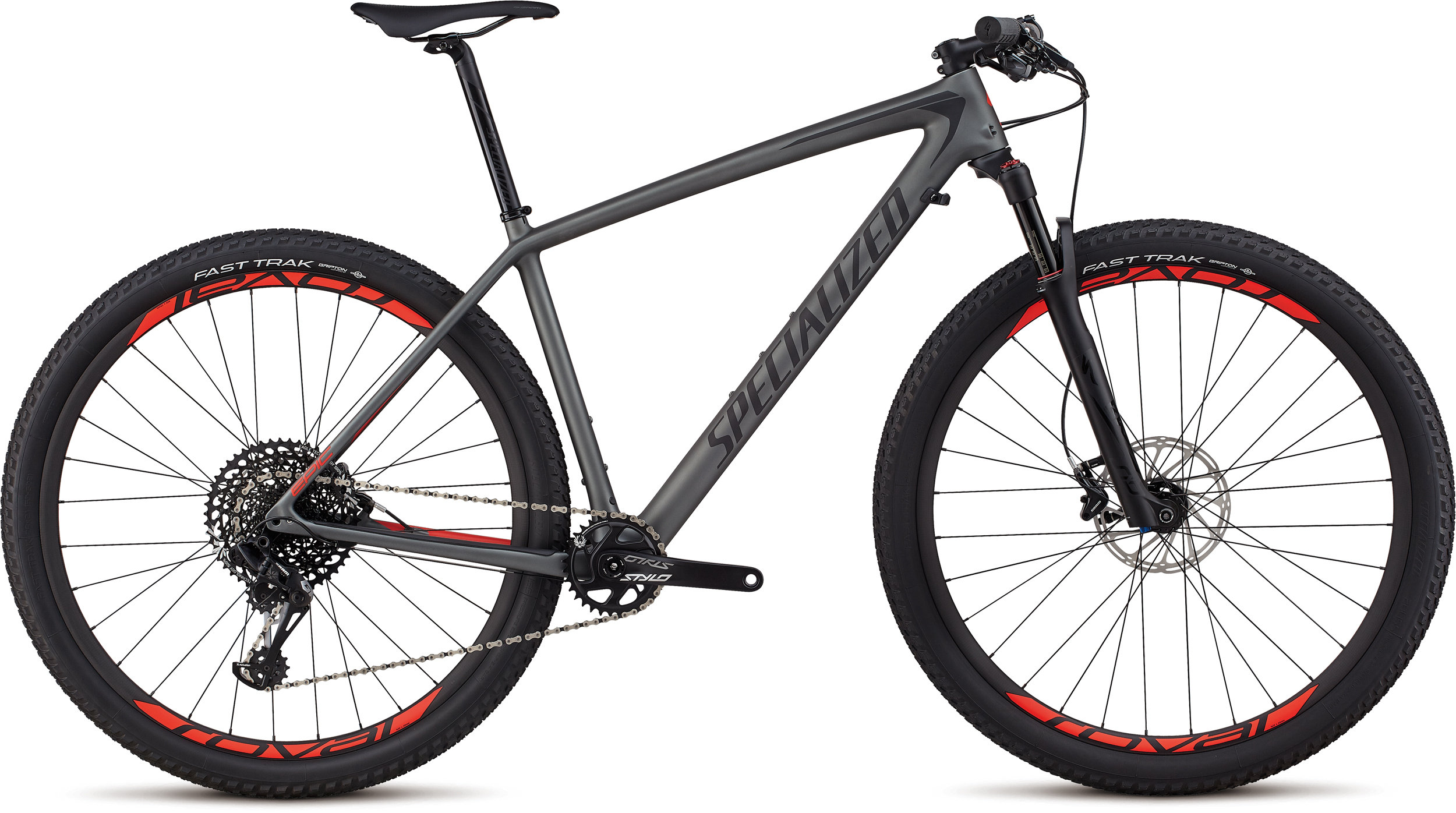 Specialized Men´s Epic Hardtail Expert SATIN CHARCOAL / BLACK / ROCKET RED L - Bike Zone