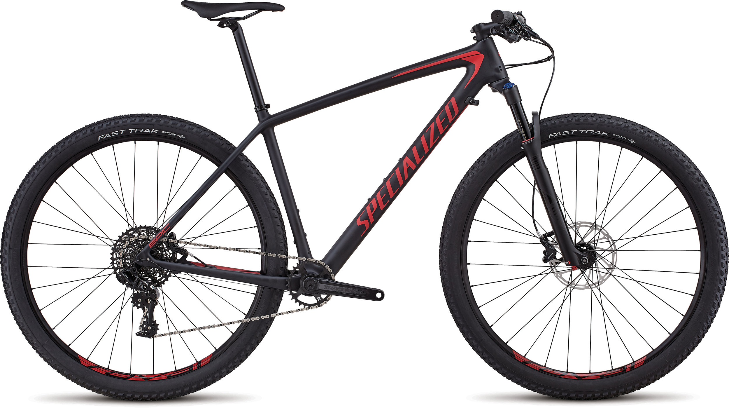 Specialized Men´s Epic Hardtail Comp SATIN BLACK / FLO RED L - Bike Zone