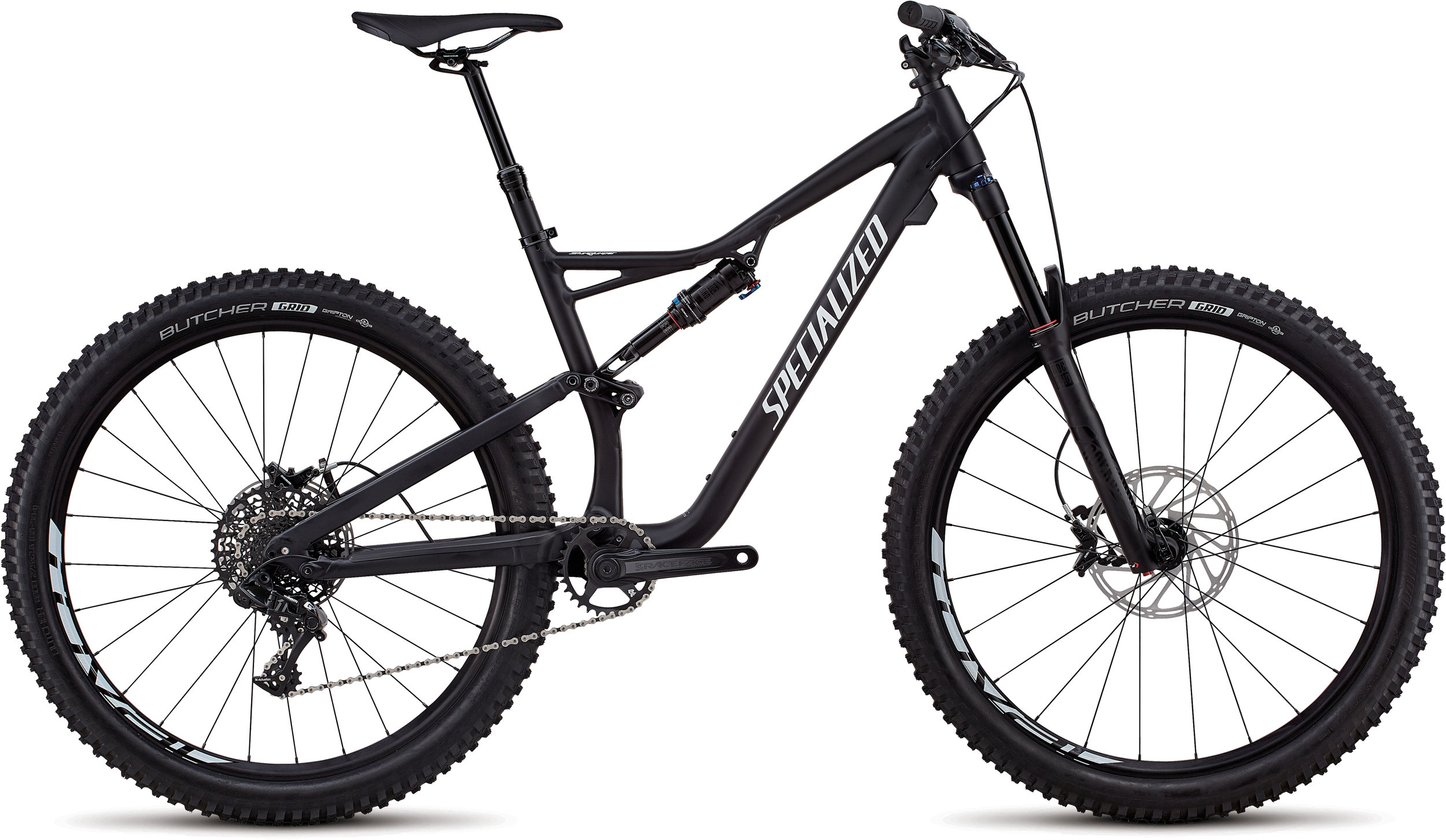 Specialized Stumpjumper Comp Alloy 27.5 SATIN BLACK / WHITE CLEAN L - Pulsschlag Bike+Sport