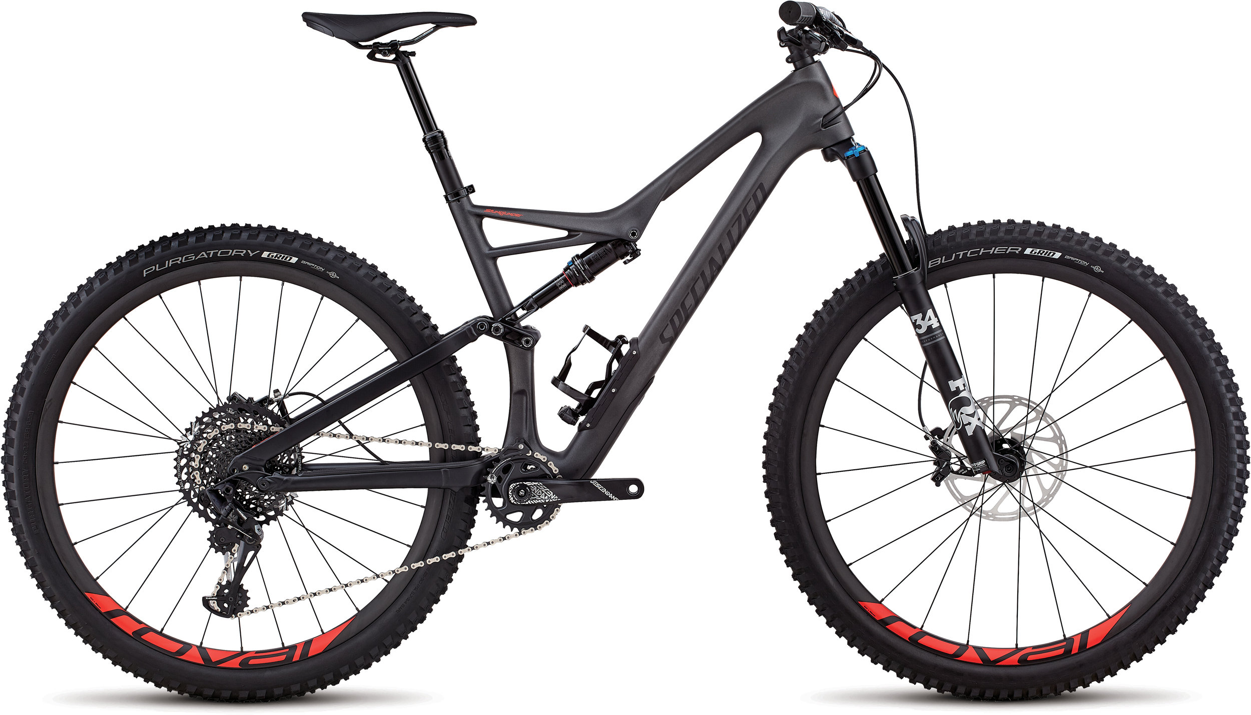 Specialized Stumpjumper Expert 29/6Fattie SATIN SILVER TINT CARBON / BLACK / ROCKET RED CLEAN XL - Pulsschlag Bike+Sport