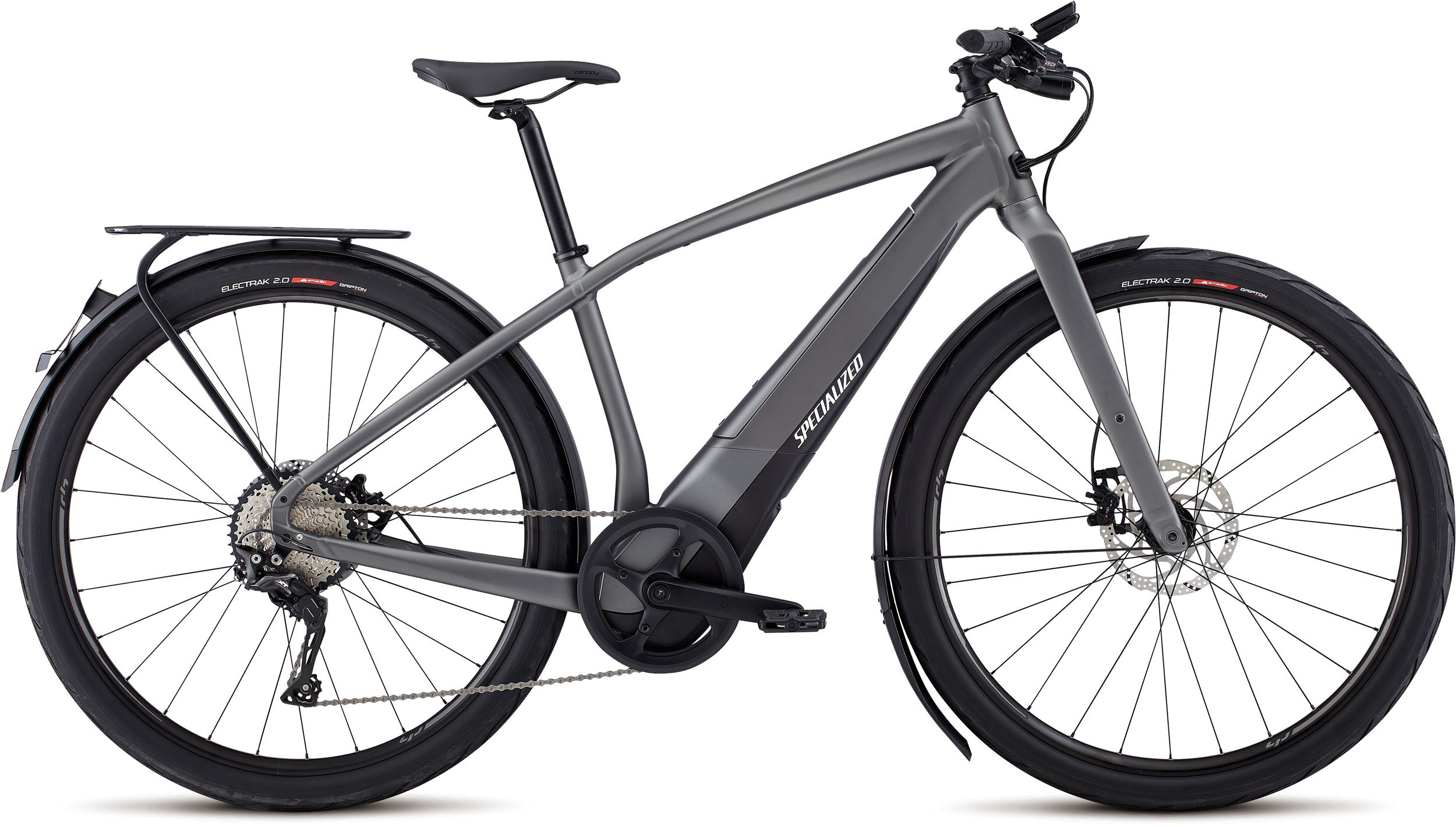 Specialized Men´s Turbo Vado 5.0 Gloss Charcoal / Black / Chrome LG - Pulsschlag Bike+Sport
