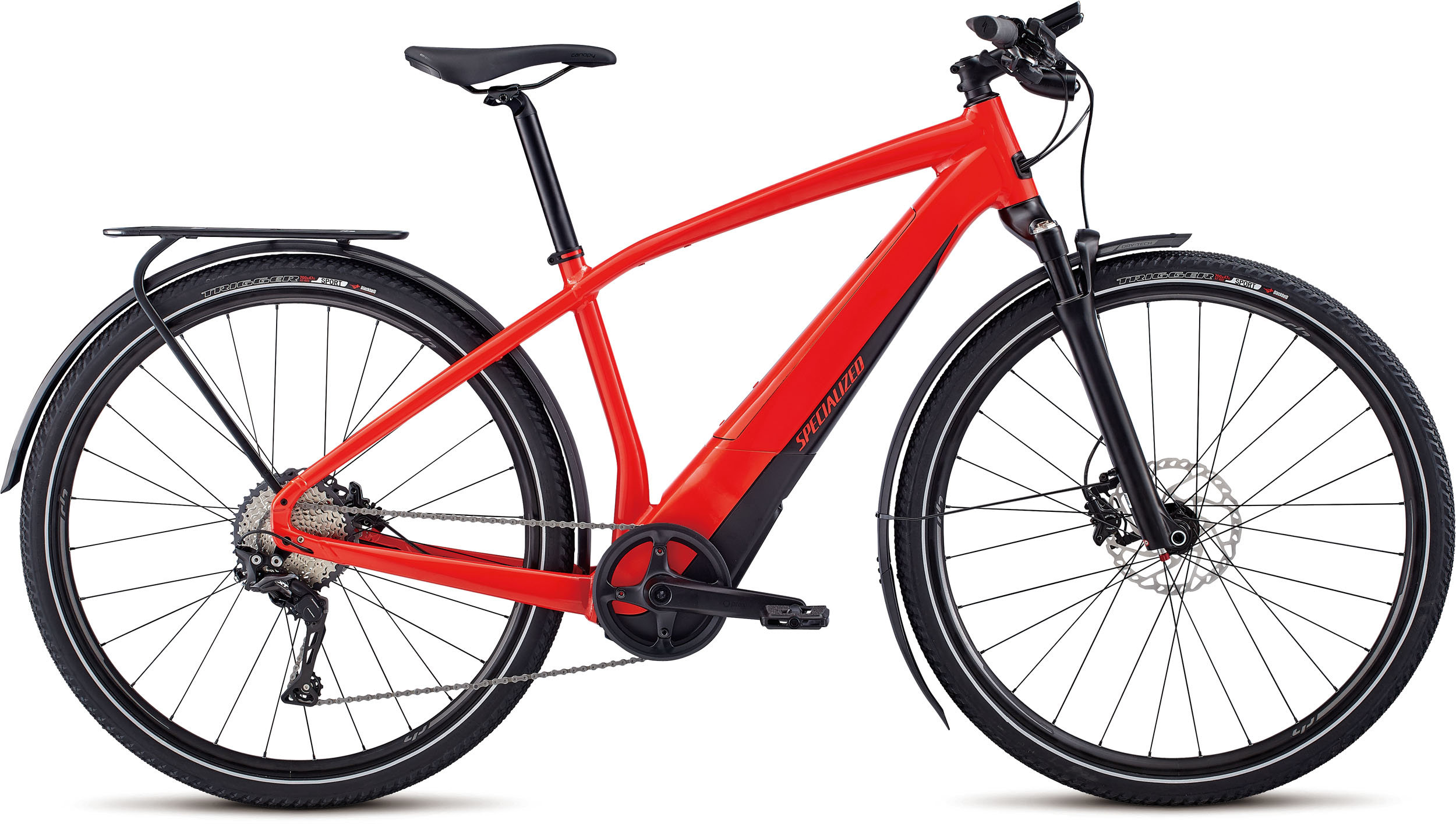 Specialized Men´s Turbo Vado 4.0 Satin Nordic Red / Black MD - Specialized Men´s Turbo Vado 4.0 Satin Nordic Red / Black MD