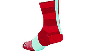 SL TALL SOCK RED/CNDYRED S/M