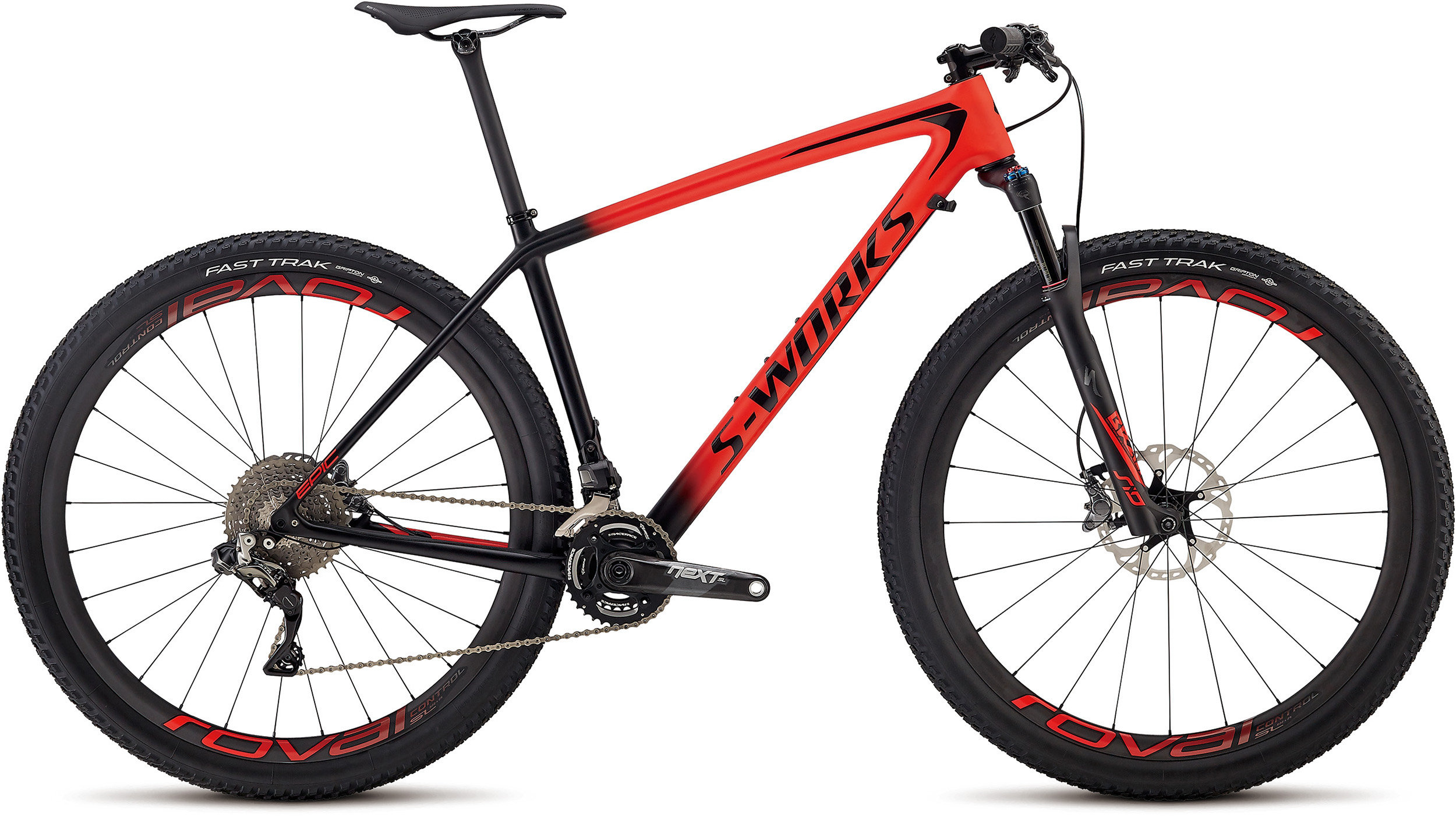 Specialized Men´s S-Works Epic Hardtail XTR Di2 SATIN GLOSS ROCKET RED / BLACK L - Alpha Bikes