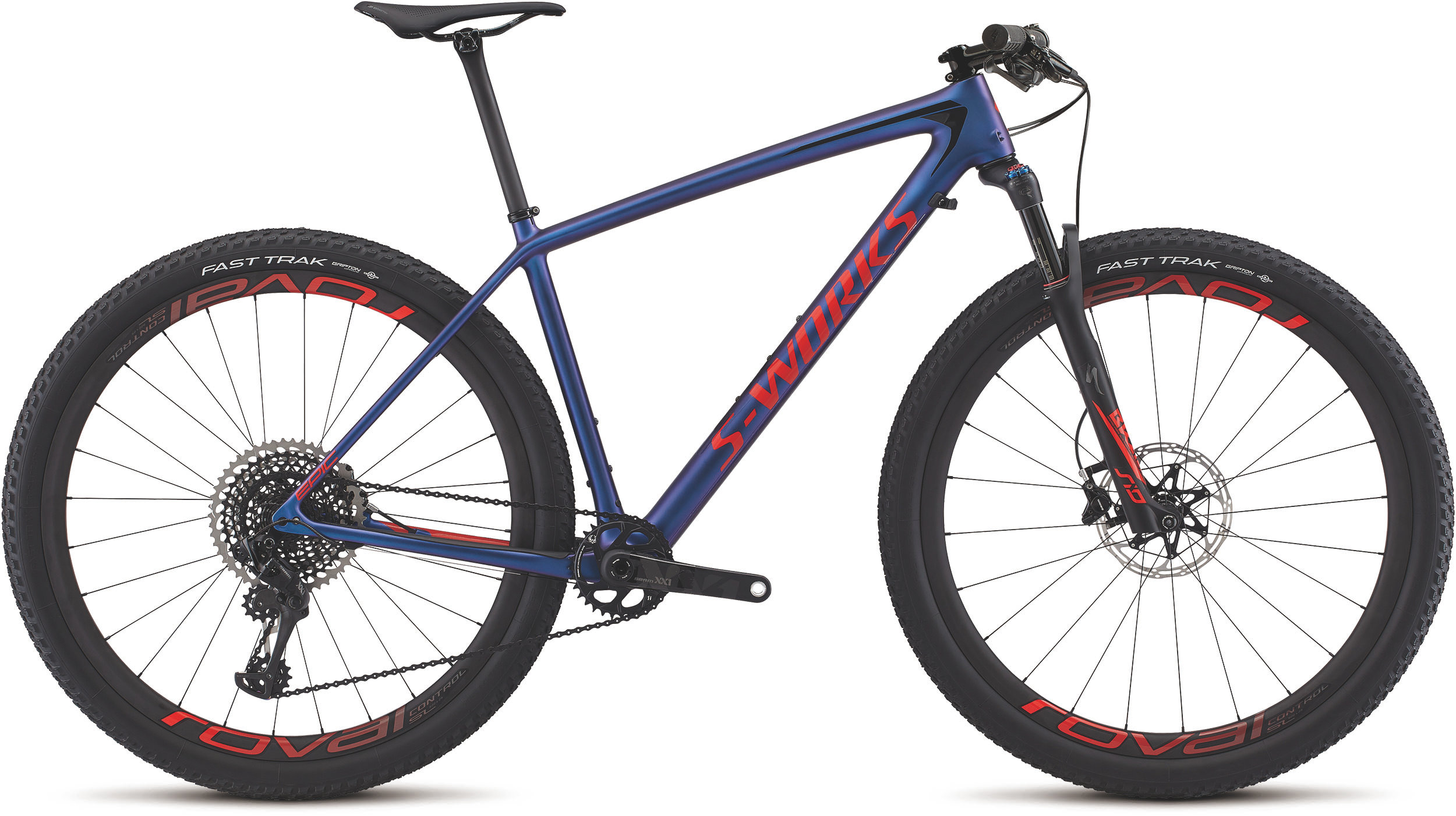 Specialized Men´s S-Works Epic Hardtail XX1 Eagle GLOSS CHAMELEON PURPLE / ROCKET RED L - Alpha Bikes